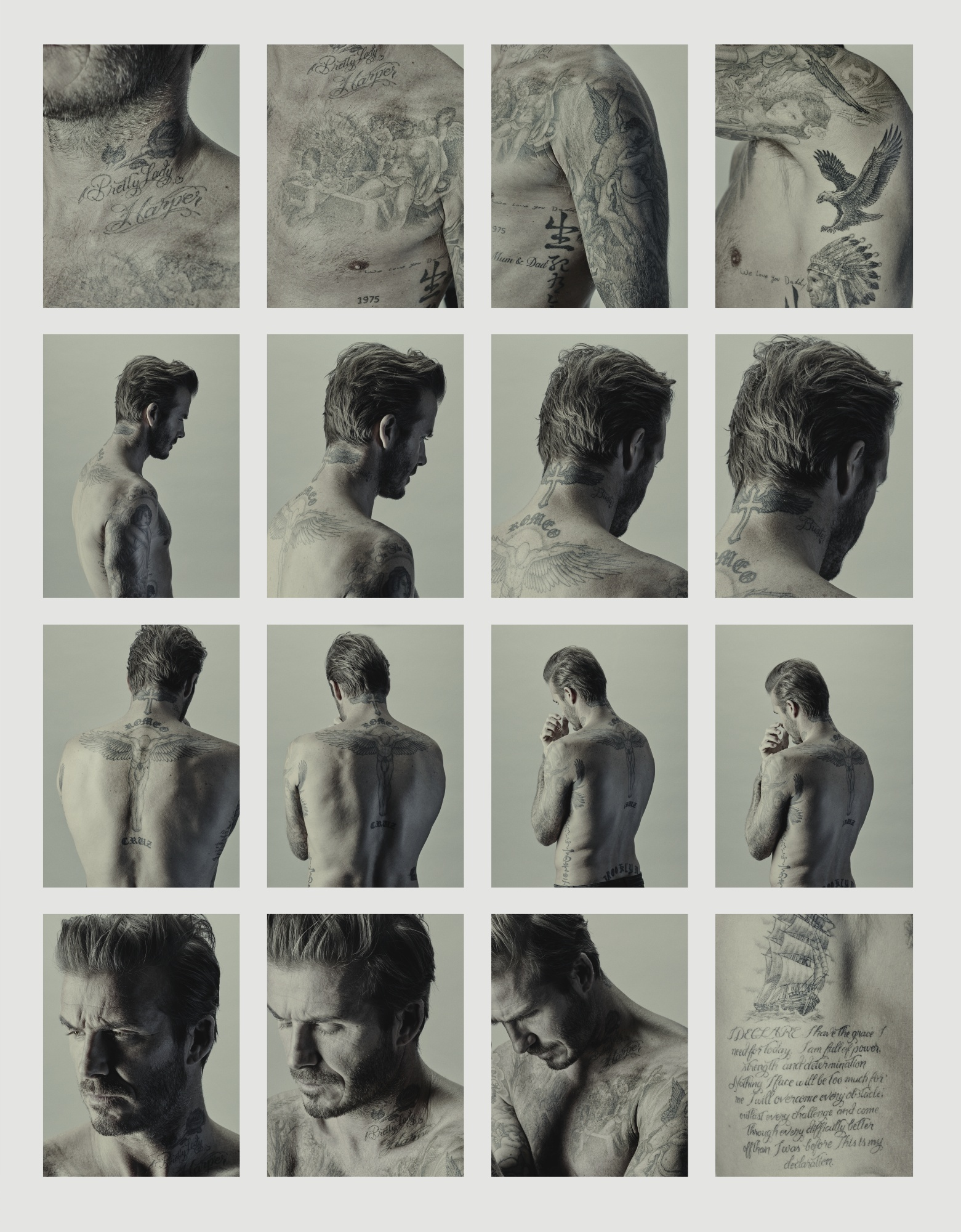 Nadav Kander-David Beckham 16 Pictures From David Beckham's Ink 2015-