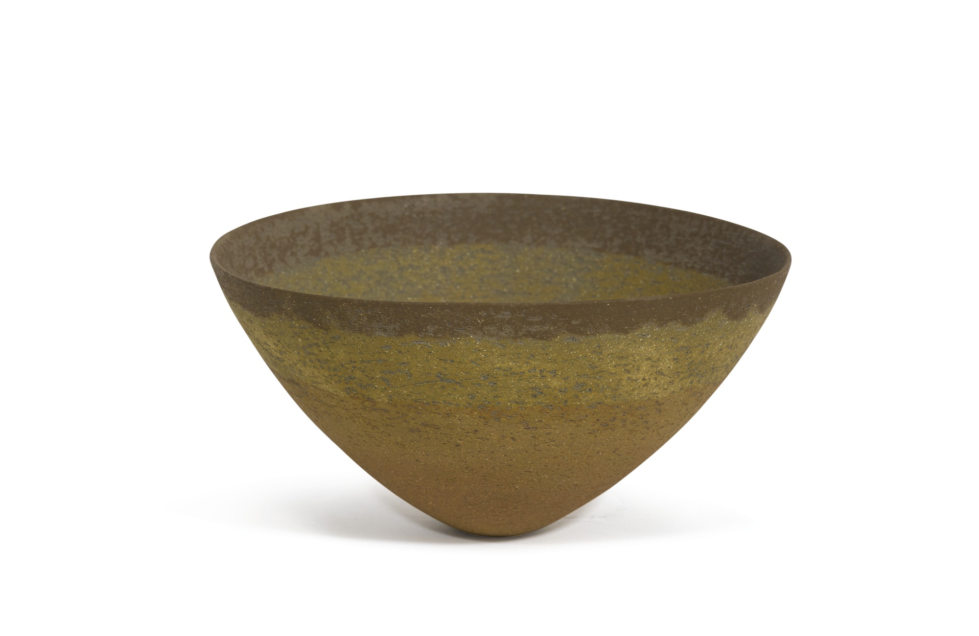 Jennifer Lee-Ochre Amber And Umber Banded Bowl-1992