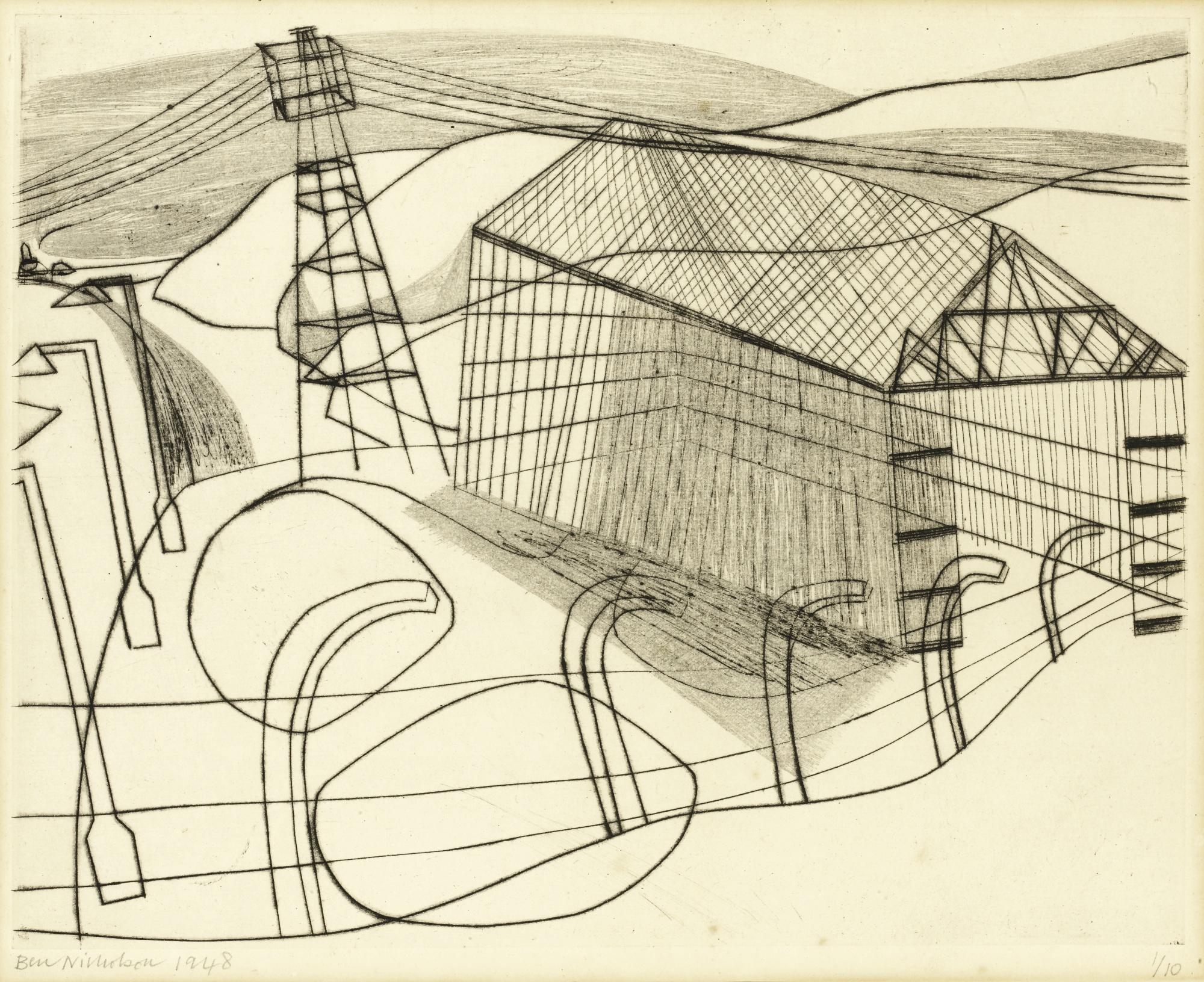 Ben Nicholson-I.C.I. Shed (Cristea 15)-1948
