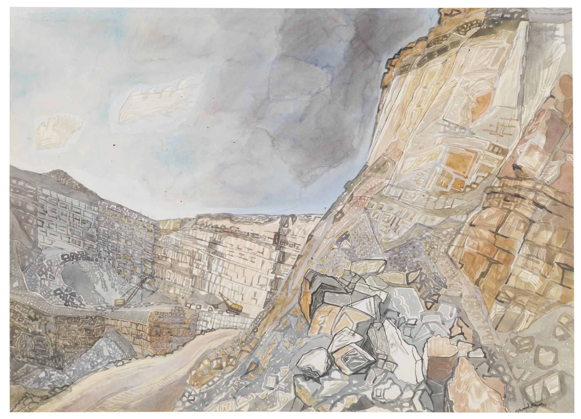 Edward Bawden-Nant Mawr Quarry Cornwall-1971