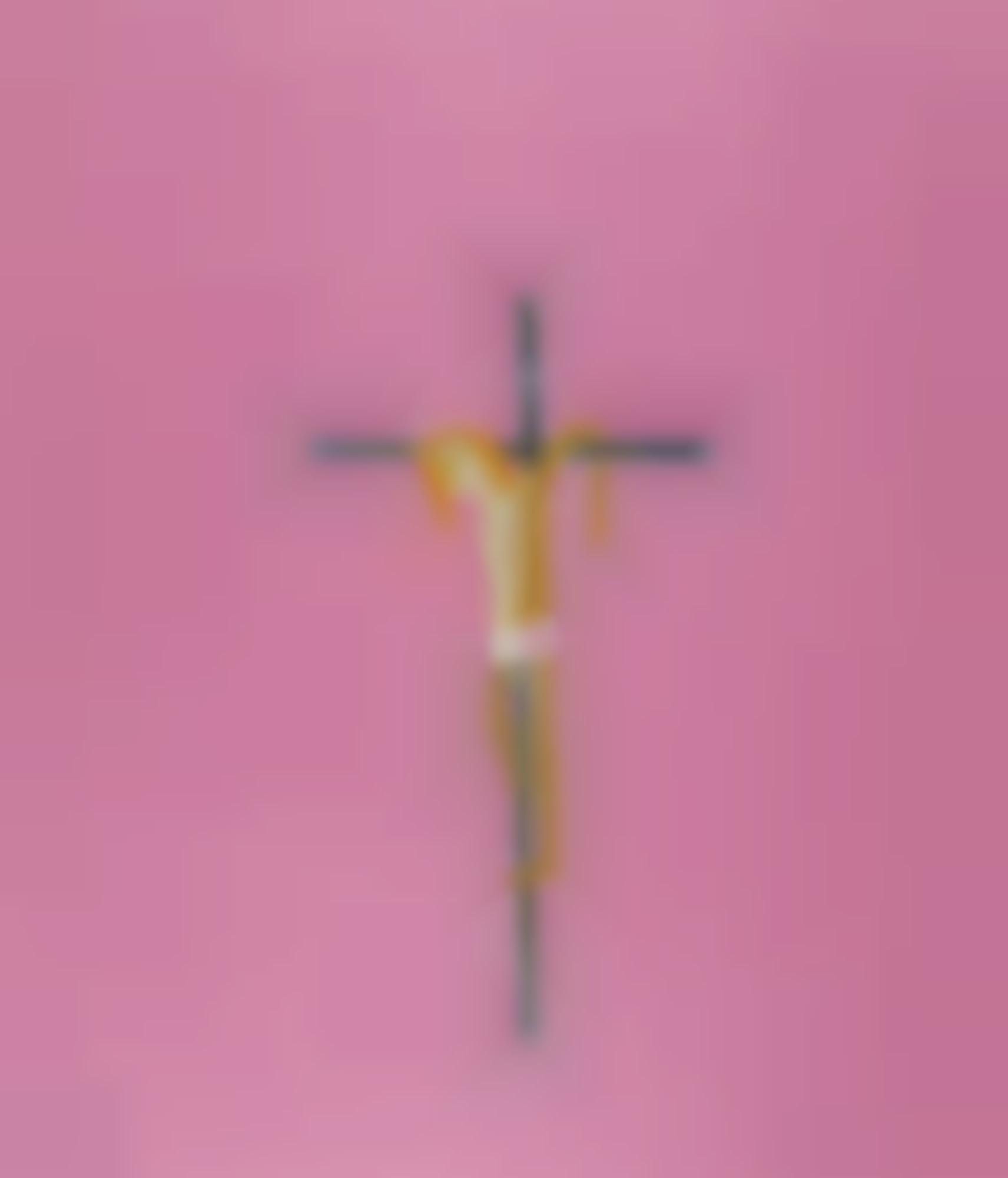 Craigie Aitchison-Pink Crucifixion-2004