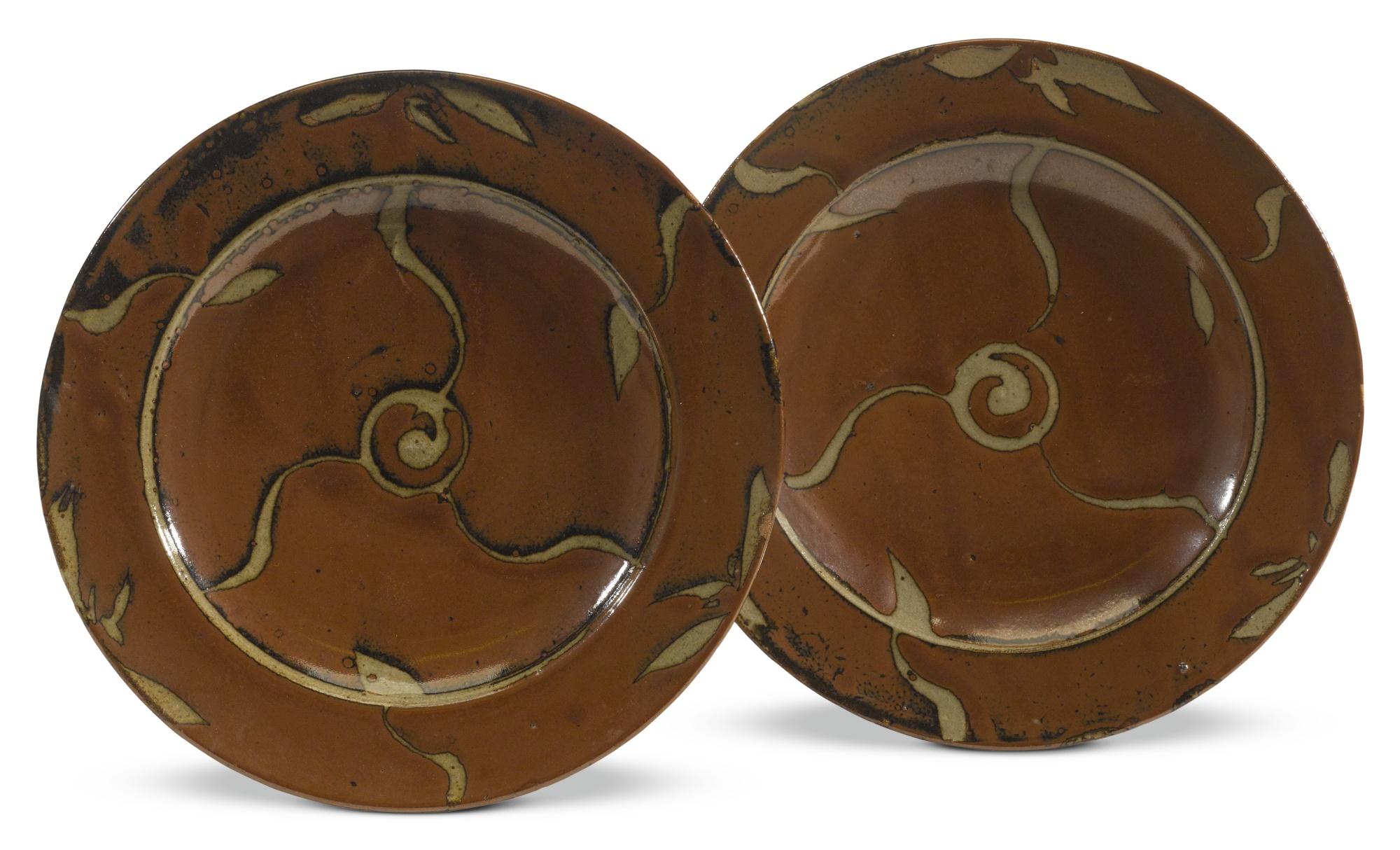 Shoji Hamada-Two Plates-1940