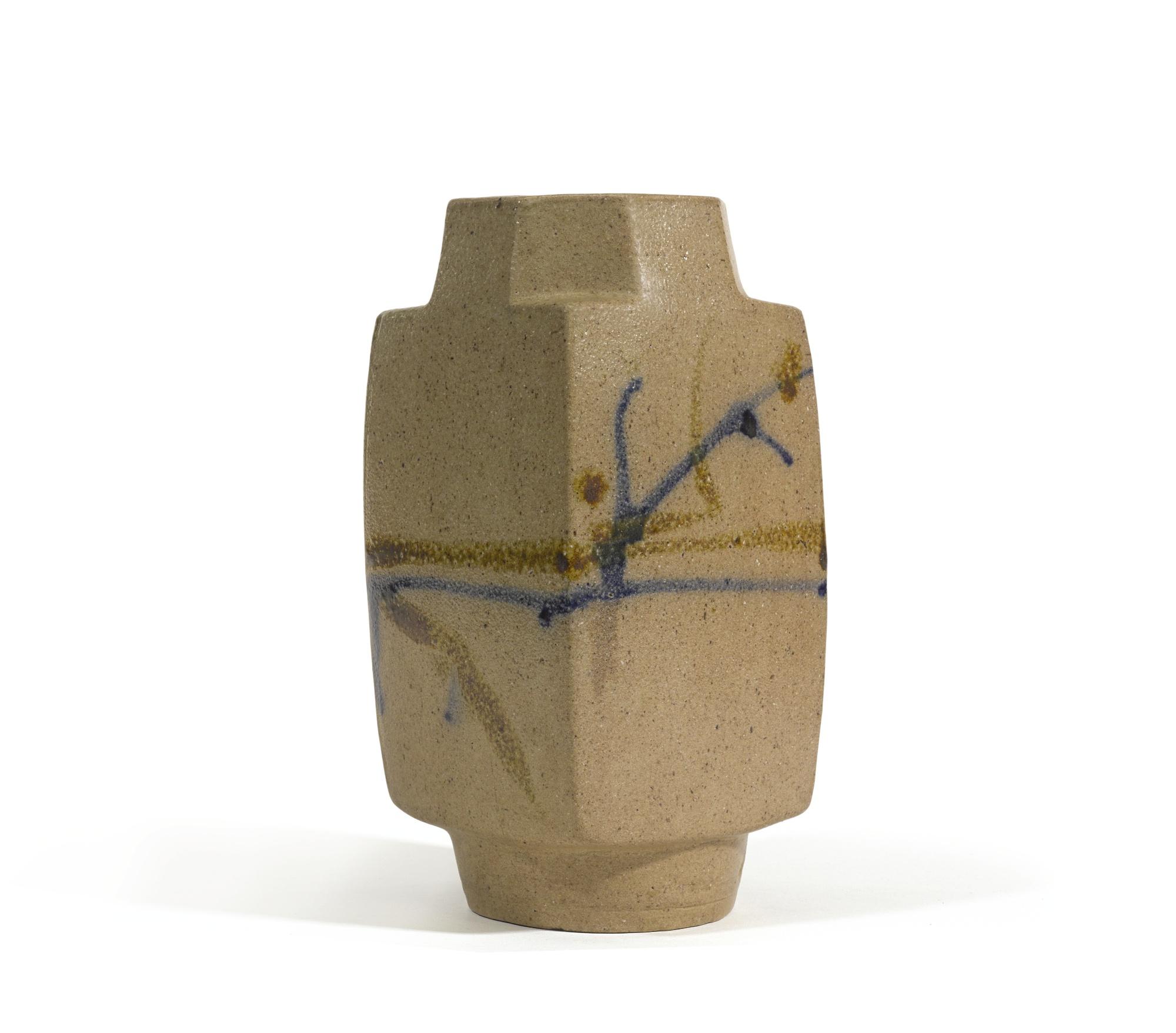 Shoji Hamada-Square Vase-