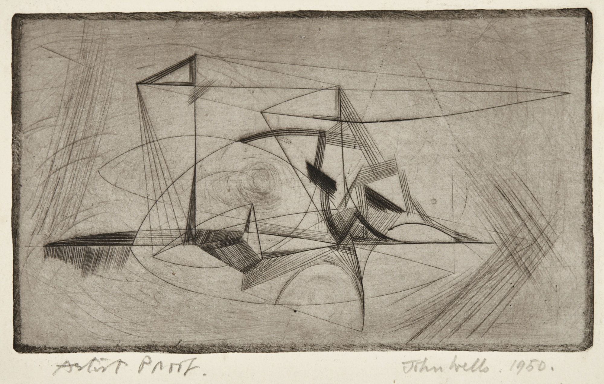 John Wells-Abstraction; Topsail; And Untitled-1950