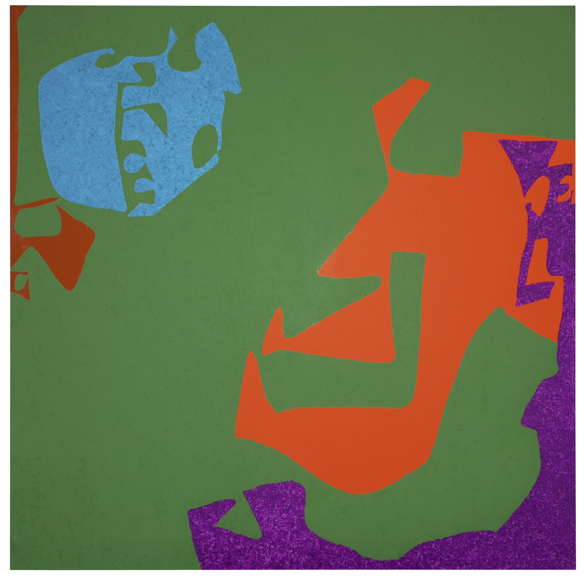 Patrick Heron-Complex Ceruleum In Dark Green Square: March - August 1977-