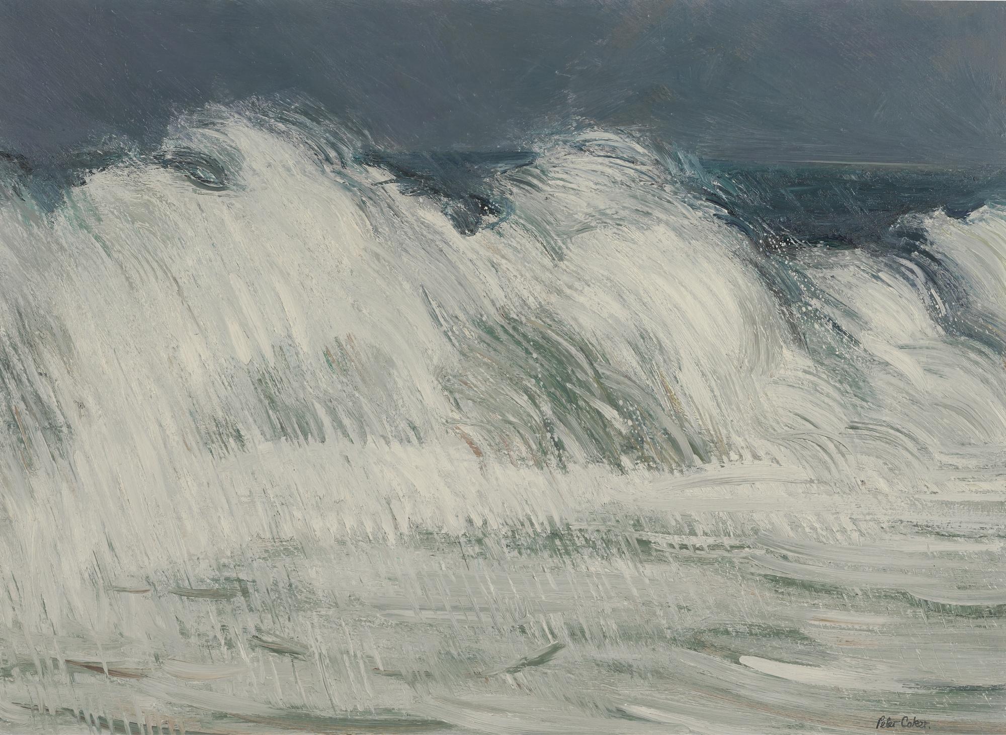 Peter Coker-High Seas At Aldeburgh Suffolk No.2-1964