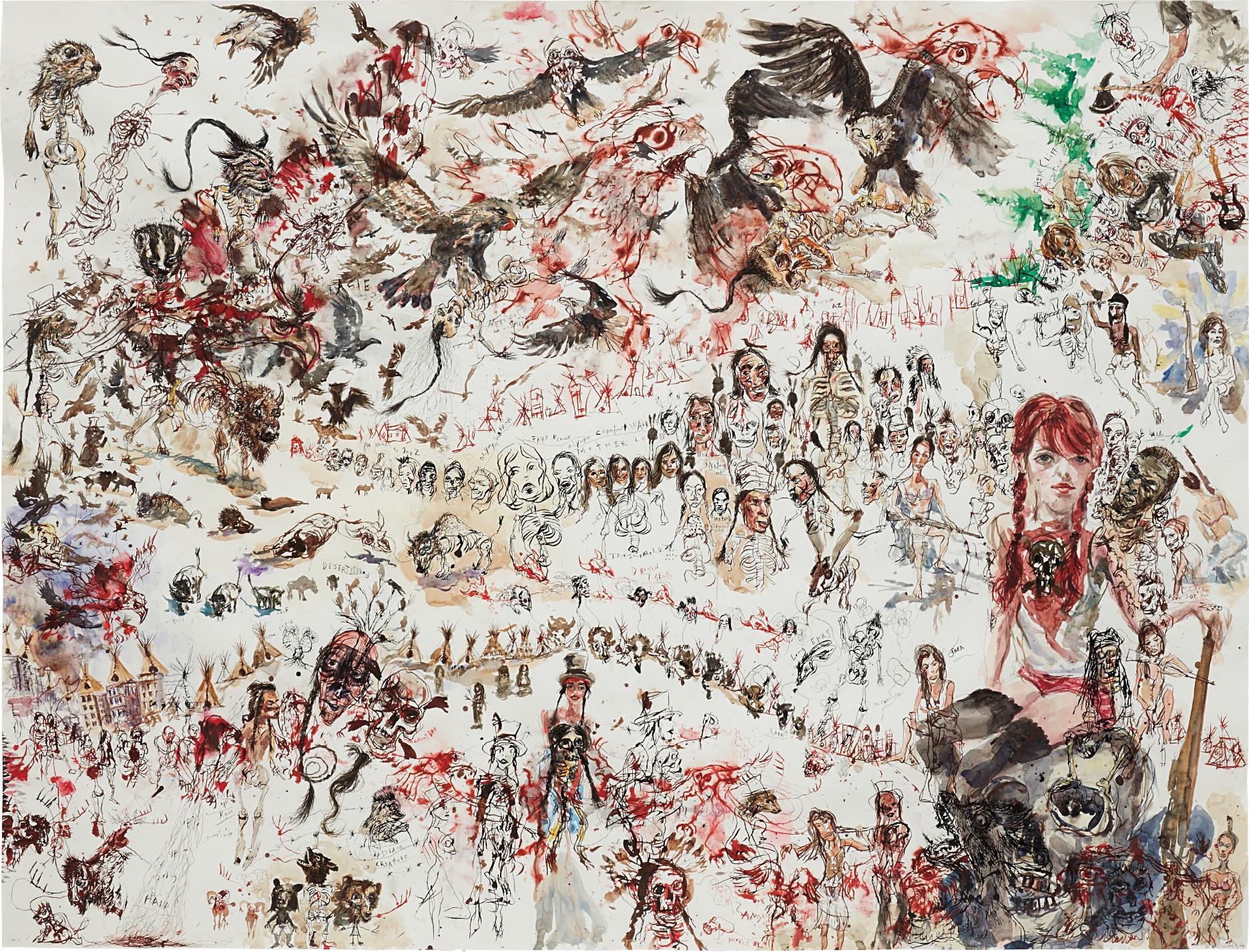 Brad Kahlhamer-Desert Forest City-2004