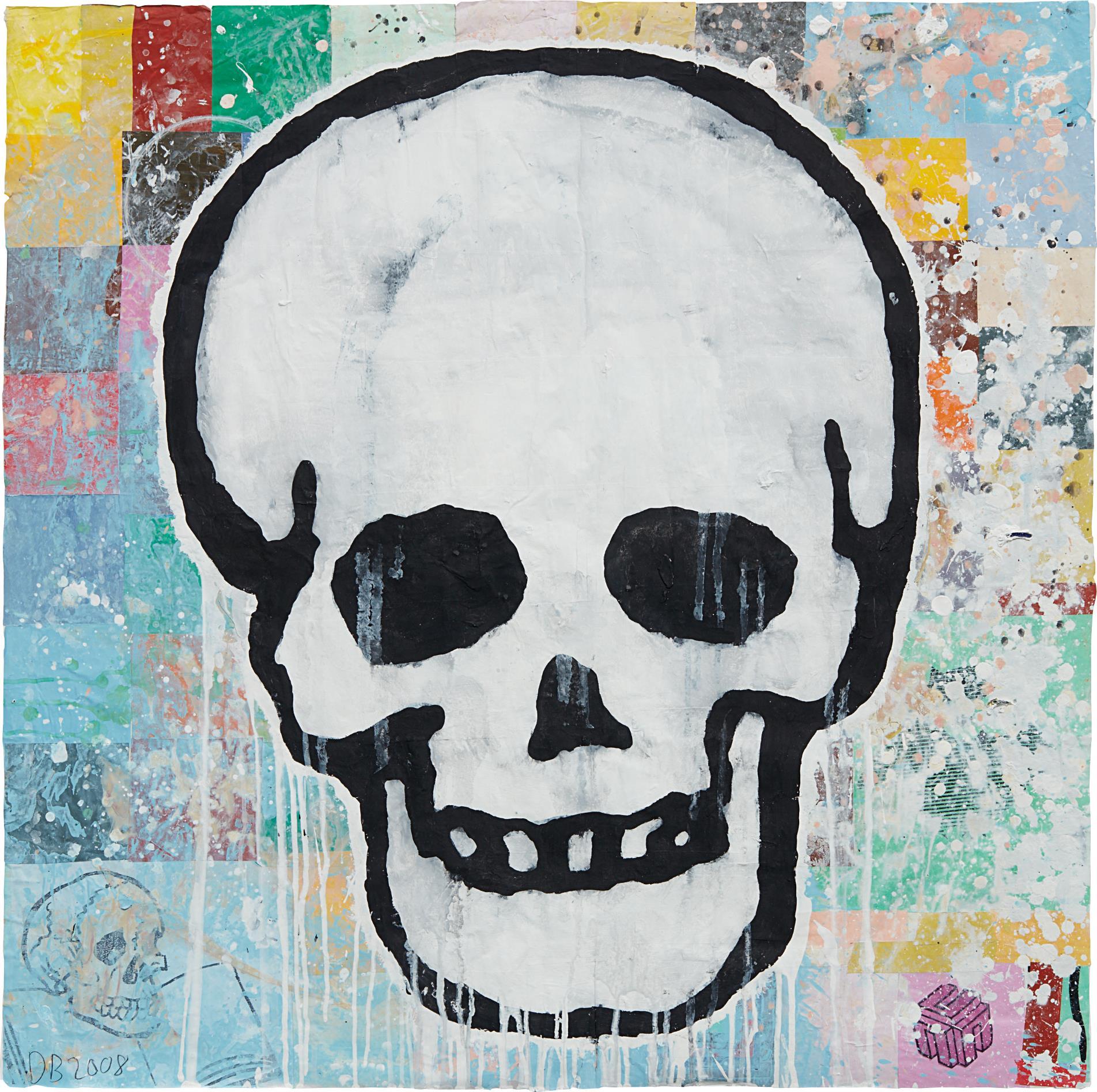 Donald Baechler-Skull-2008