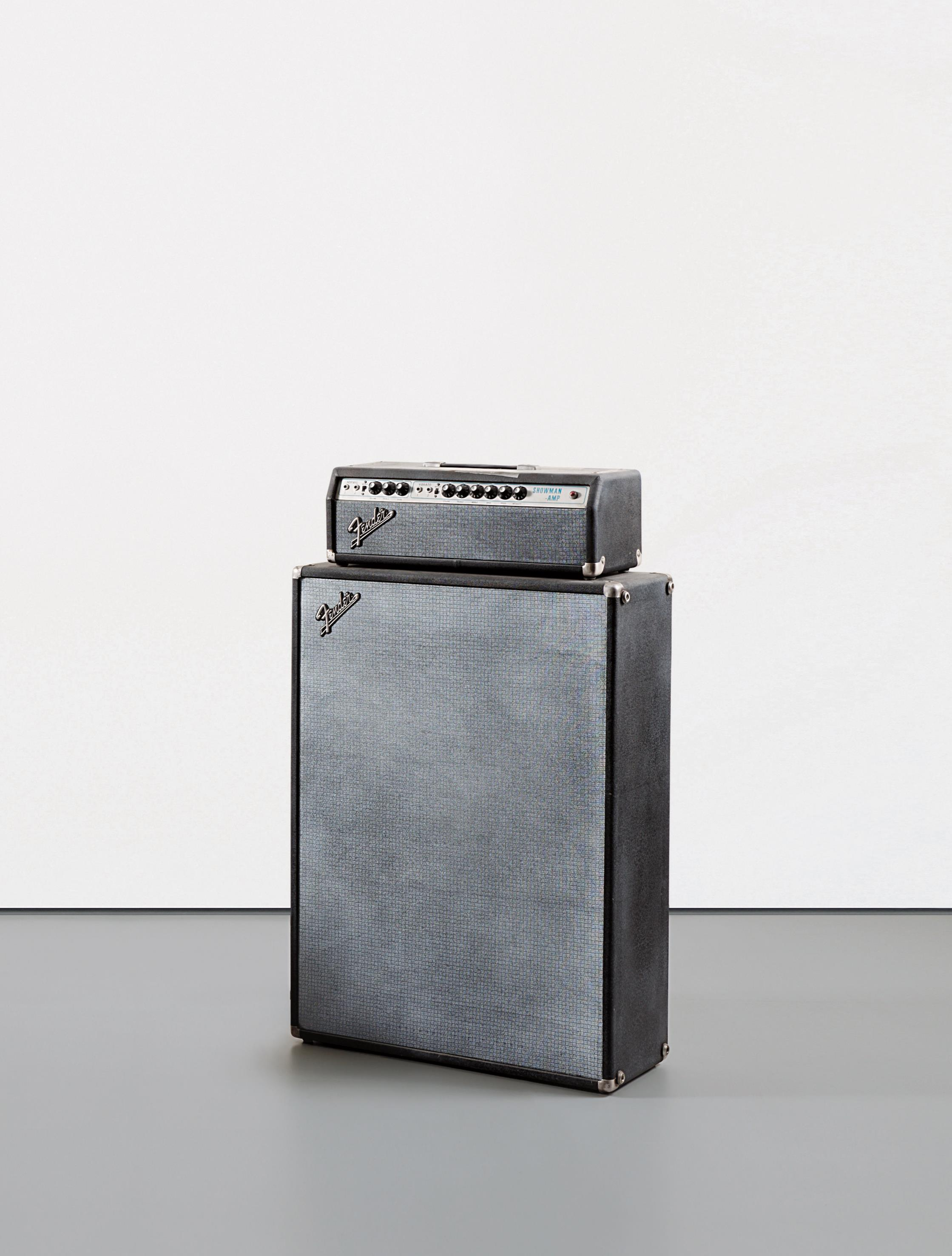 Kaz Oshiro-Fender Showman Amp With Cabinet #2 (Duct Tape & Cigarette Burn)-2002