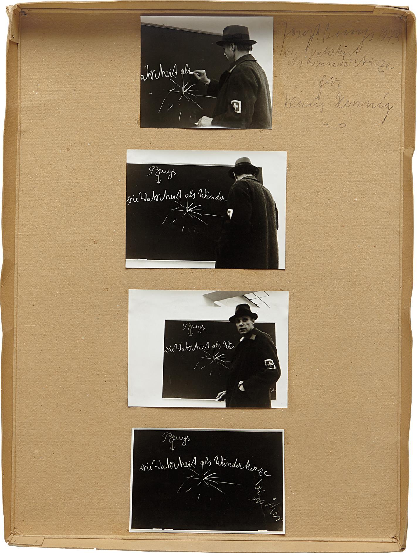 Joseph Beuys-Die Wahreit Als Wunderkerze Für Klaus Hennig-1973