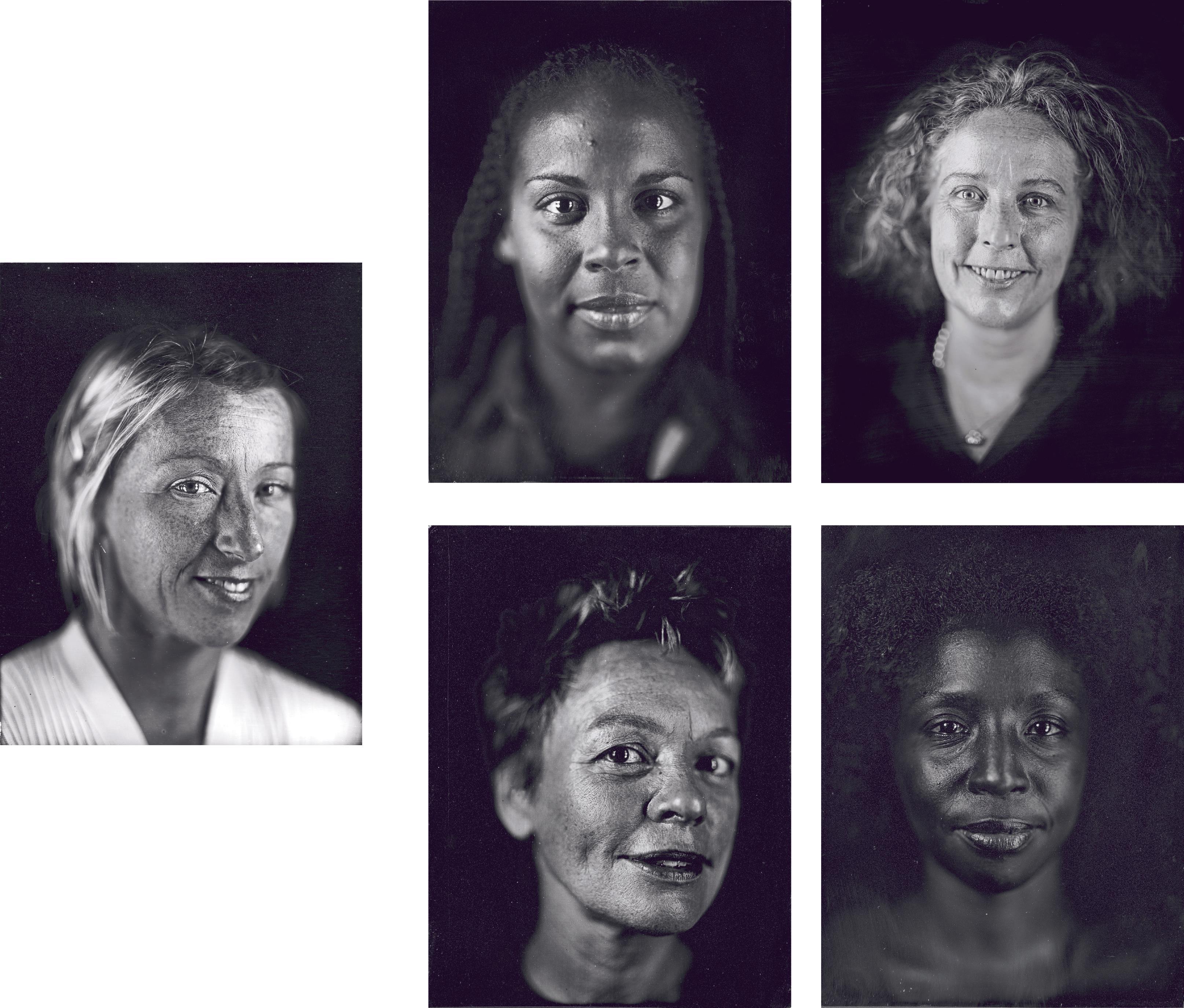 Chuck Close-Cindy, Ellen, Kiki, Laurie, Lorna-2000