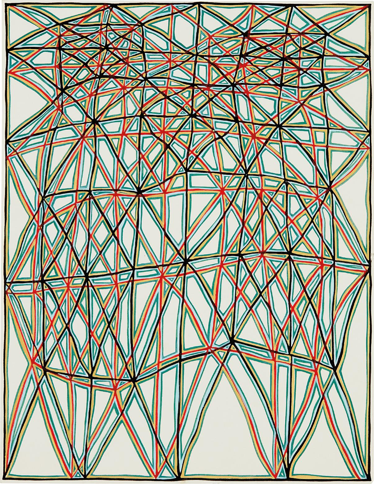 James Siena-Shifted Lattice With Alternating Coffers-2006
