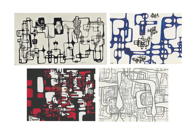 Ibram Lassaw-Untitled; Untitled; Untitled; Untitled-1976