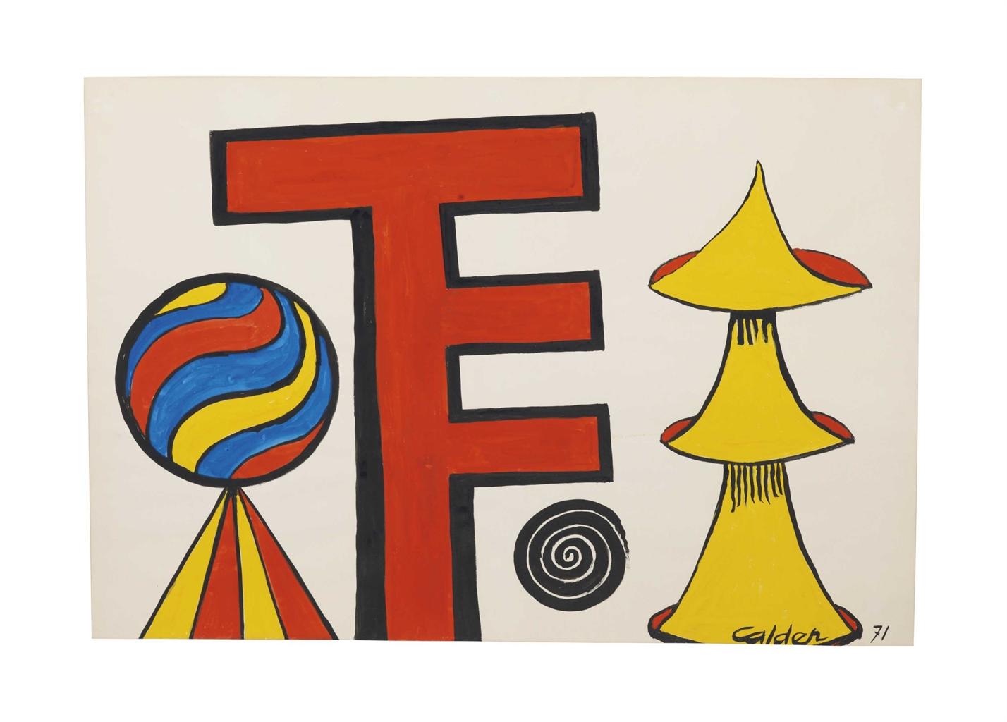 Alexander Calder-Sigle-1971