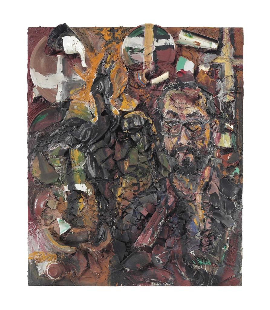 Julian Schnabel-Portrait of M.T.-1983