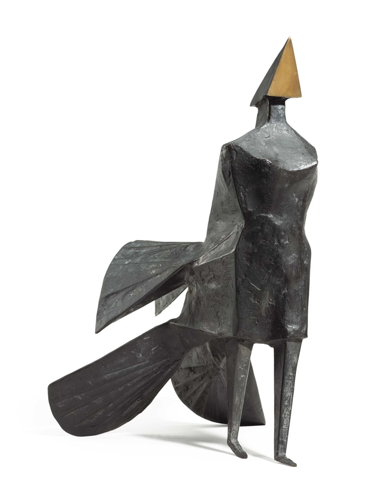 Lynn Chadwick-Maquette IV Walking Woman-1984