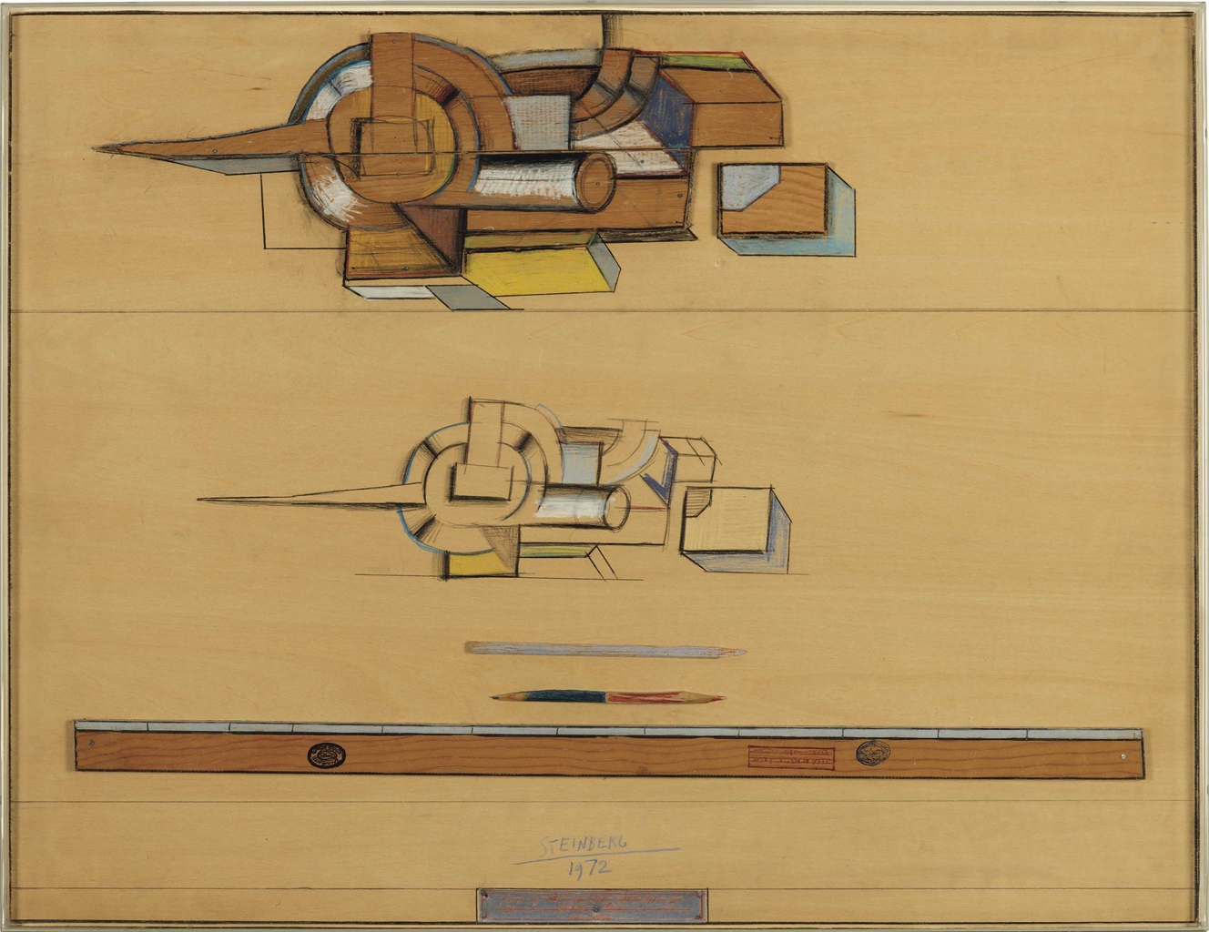Saul Steinberg-Speech Table-1972