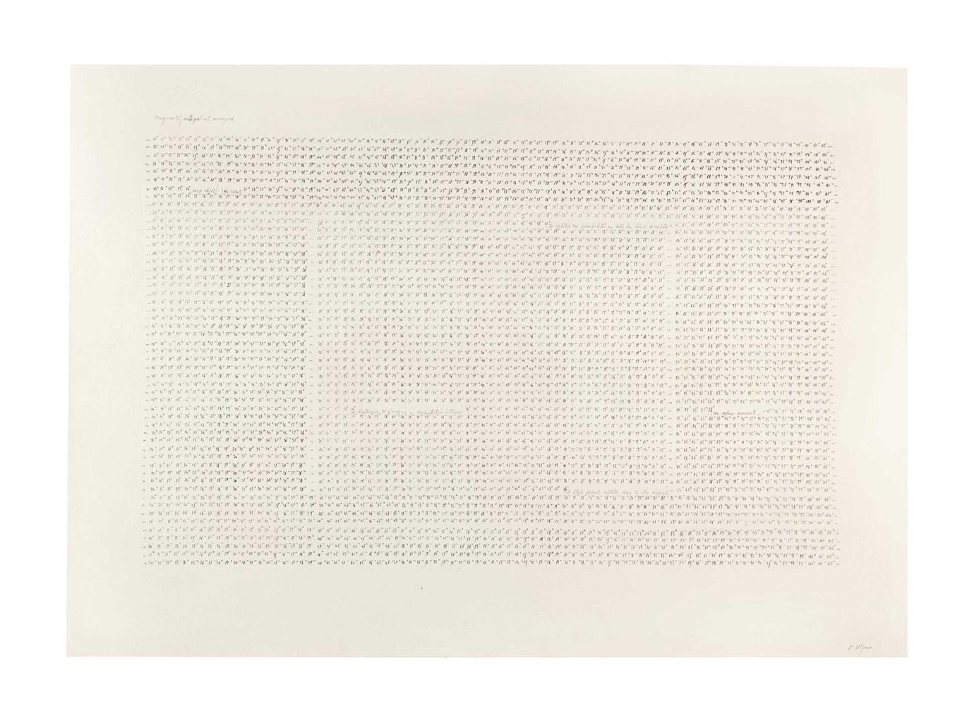Carlo Alfano-Fragments / Autoportrait Anonyme-1972