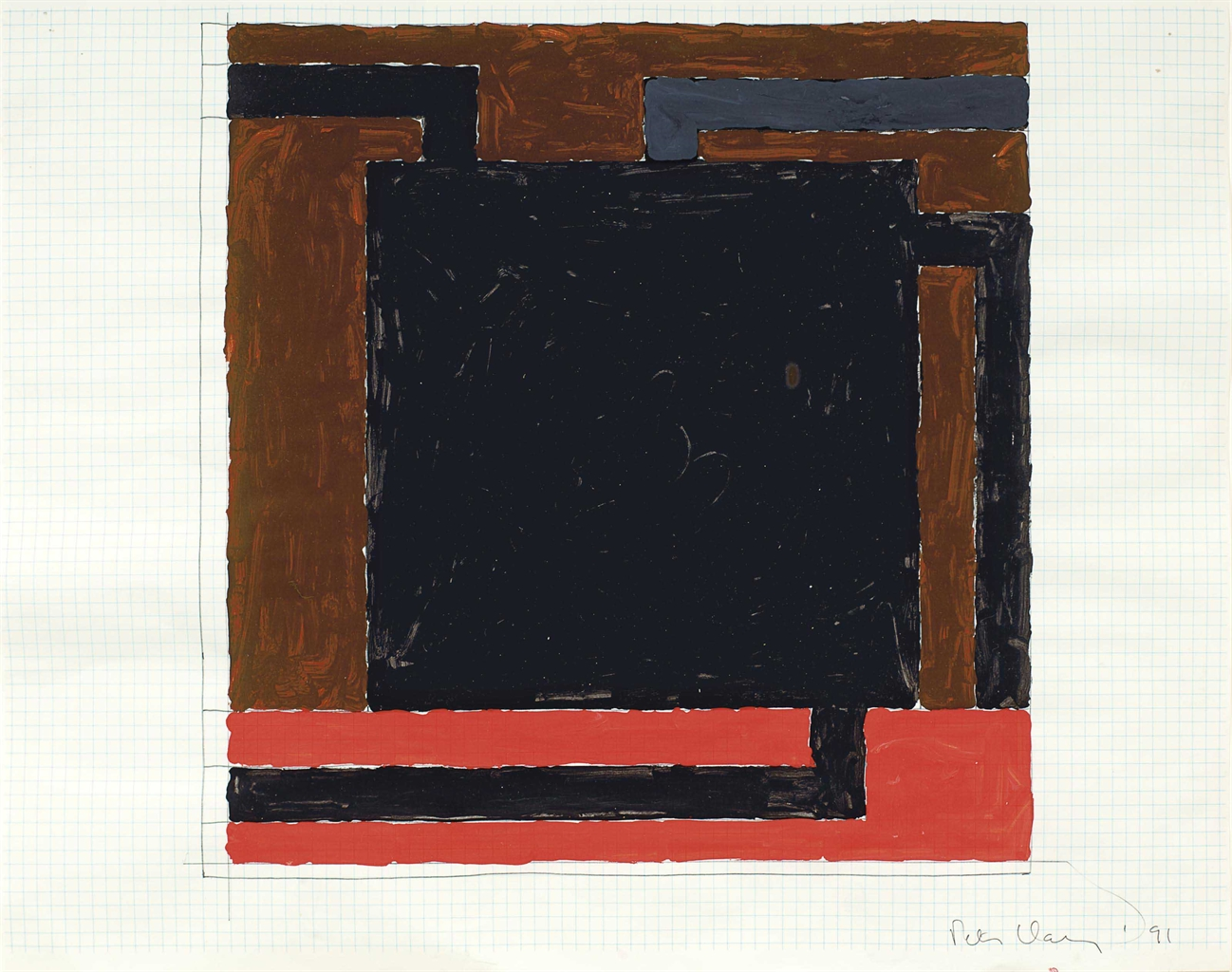 Peter Halley-Untitled-1991