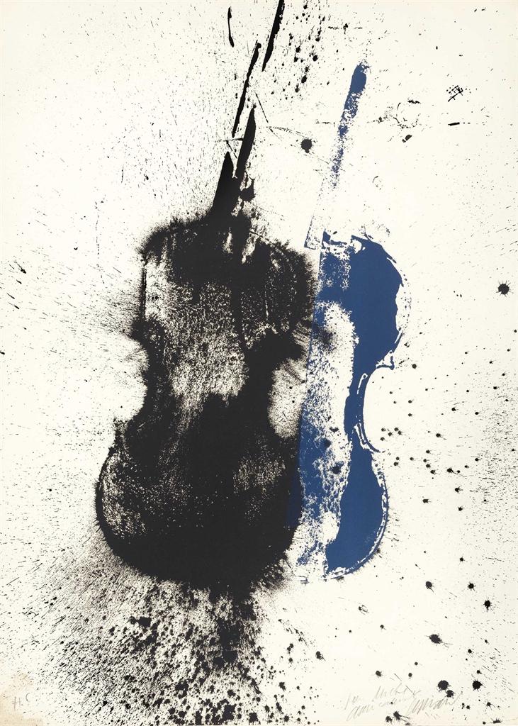 Arman-Bleu Et Noir-1970