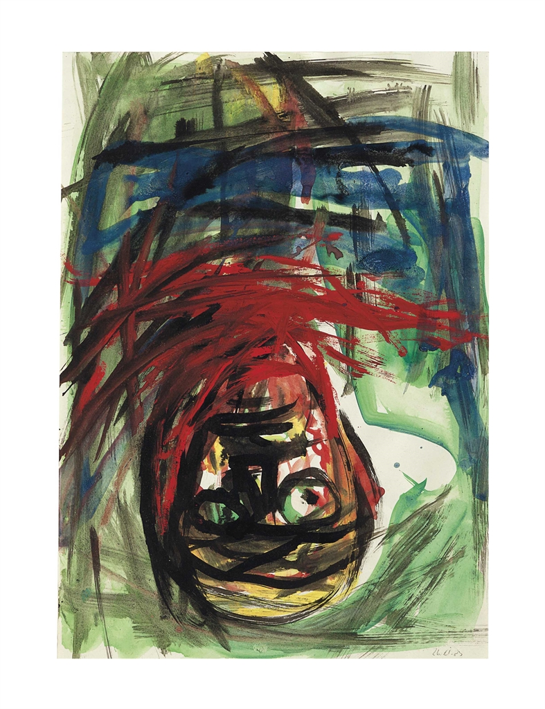 Georg Baselitz-Study for the Crucifixion-1983