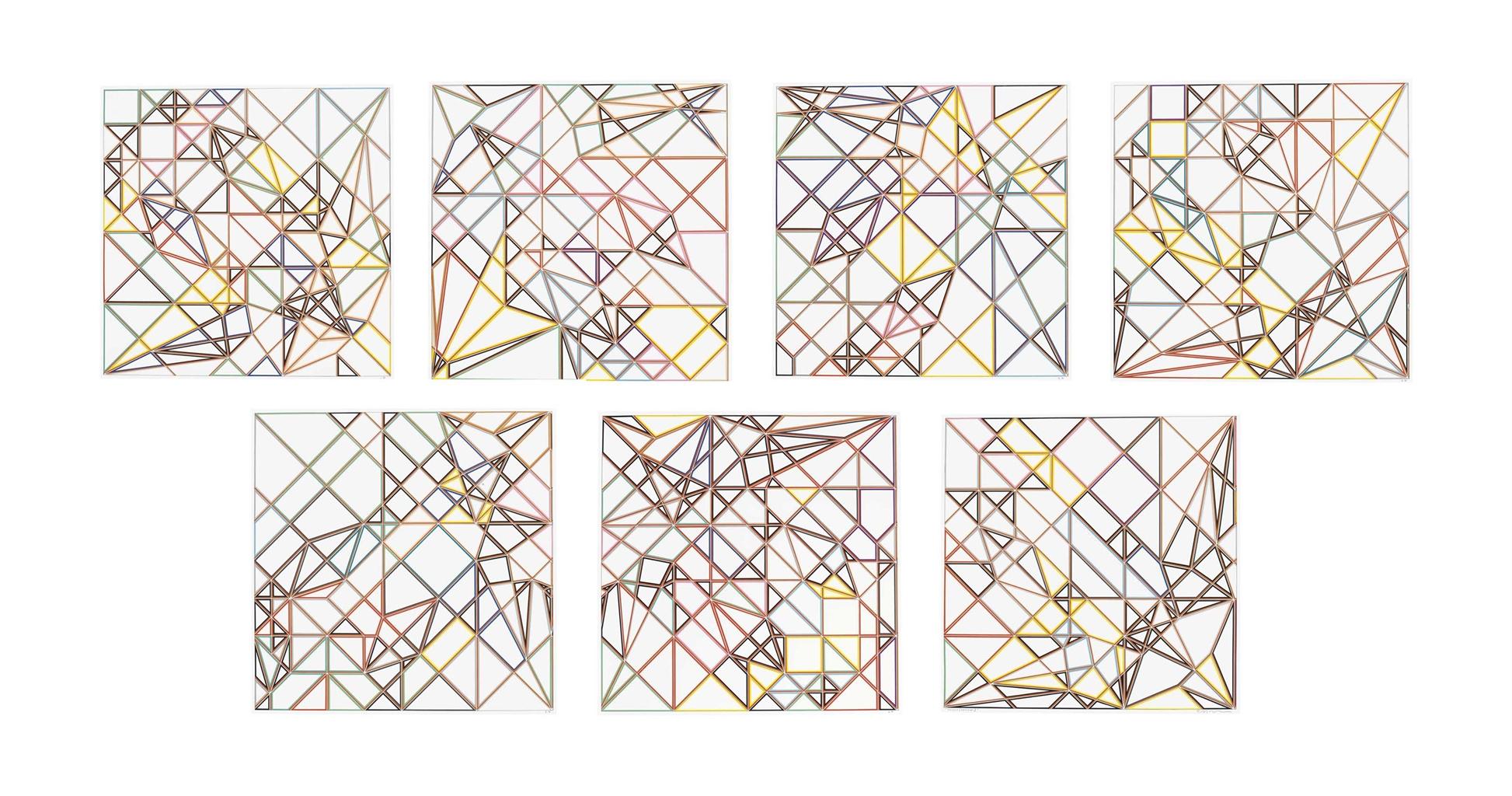 Sarah Morris-Taurus [Origami]-2009