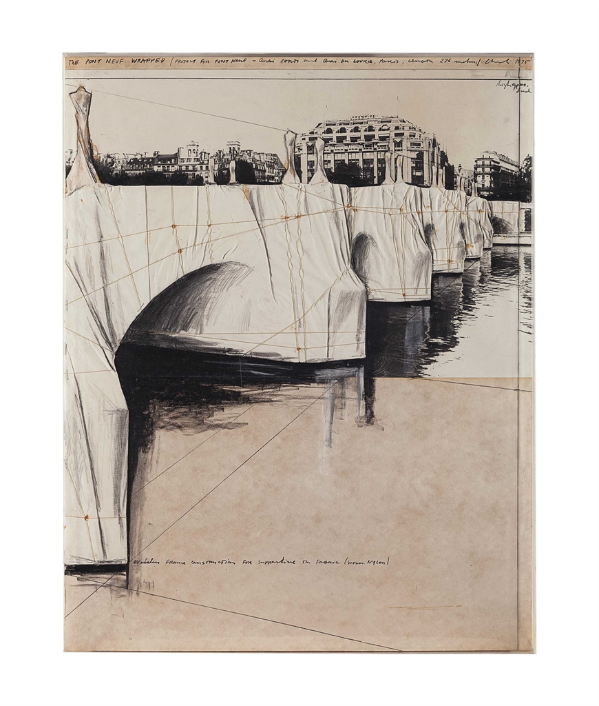 Christo and Jeanne-Claude-The Pont Neuf Wrapped-1975