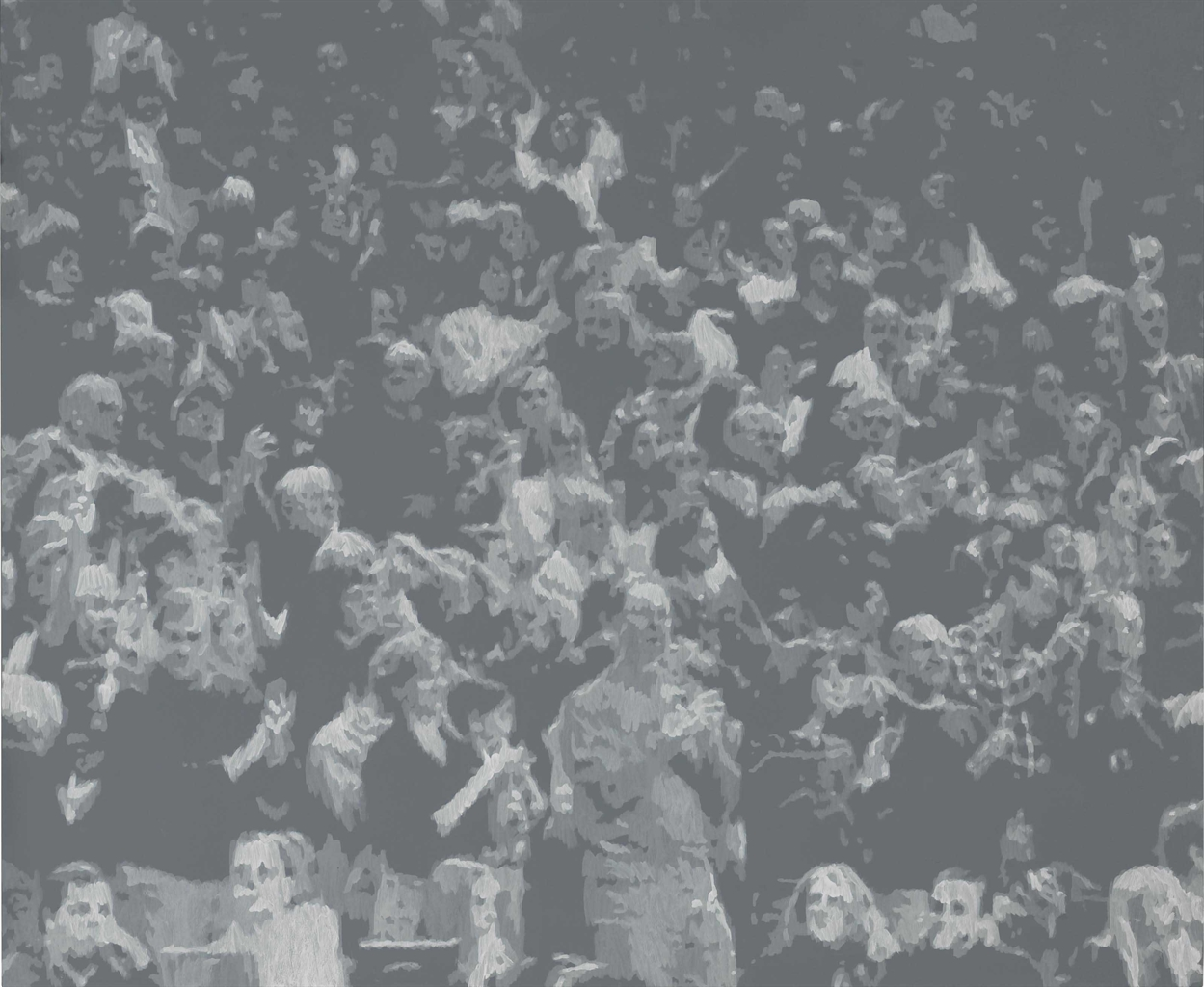 Wayne Gonzales-Cheering Crowd-2008