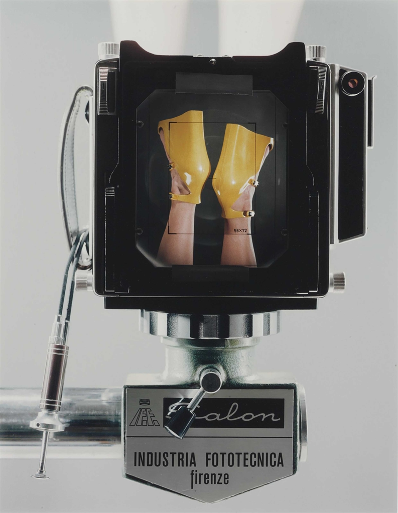 Christopher Williams-Linhof Technika V fabricated in Munich Germany. Salon Studio Stand fabricated in Florence Italy. Dual cable release. Prontor shutter. Symar-s lens 150mmm/f 5.6 Schneider kreuznach. Sinar fresnel lens placed with black tape on the ground glass.-2008
