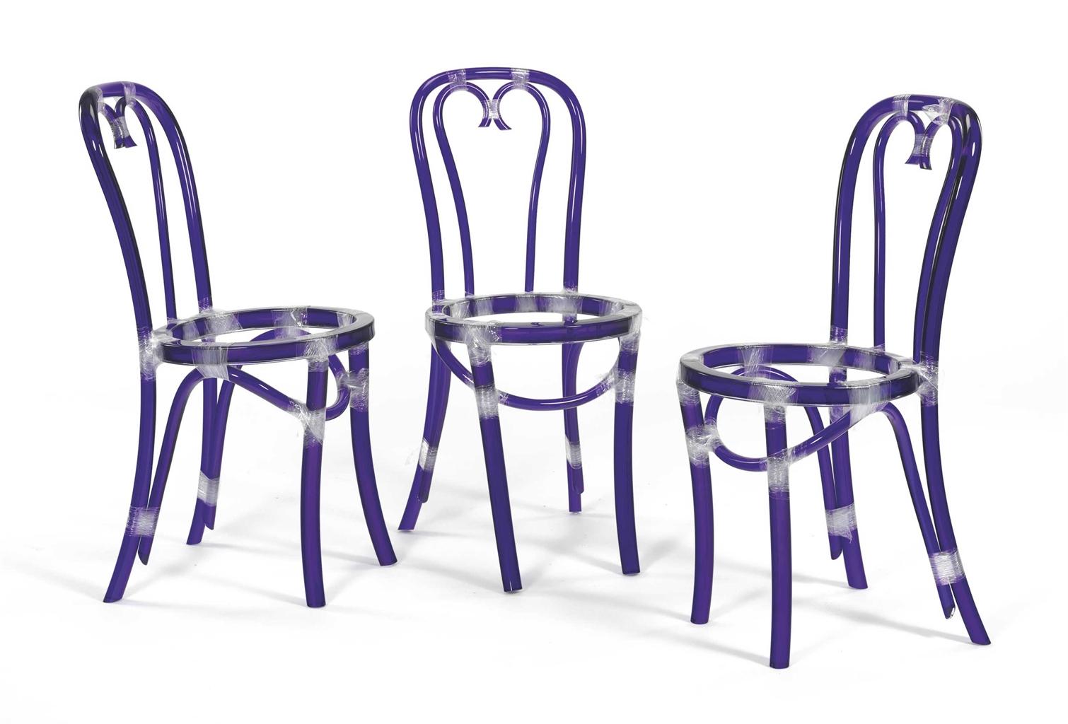 Rita McBride-Chairs (Blue)-2000
