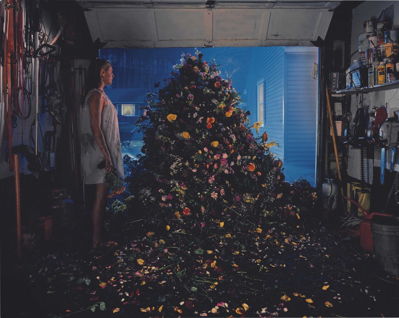 Gregory Crewdson-Untitled (flower mound)-1999