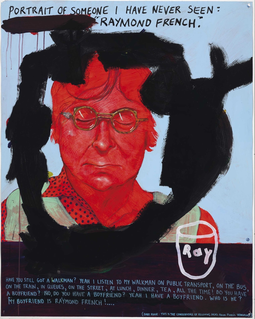 Keith Tyson-Studio Wall Drawing: Portrait of a Person I have Never Seen - Raymond French-2001