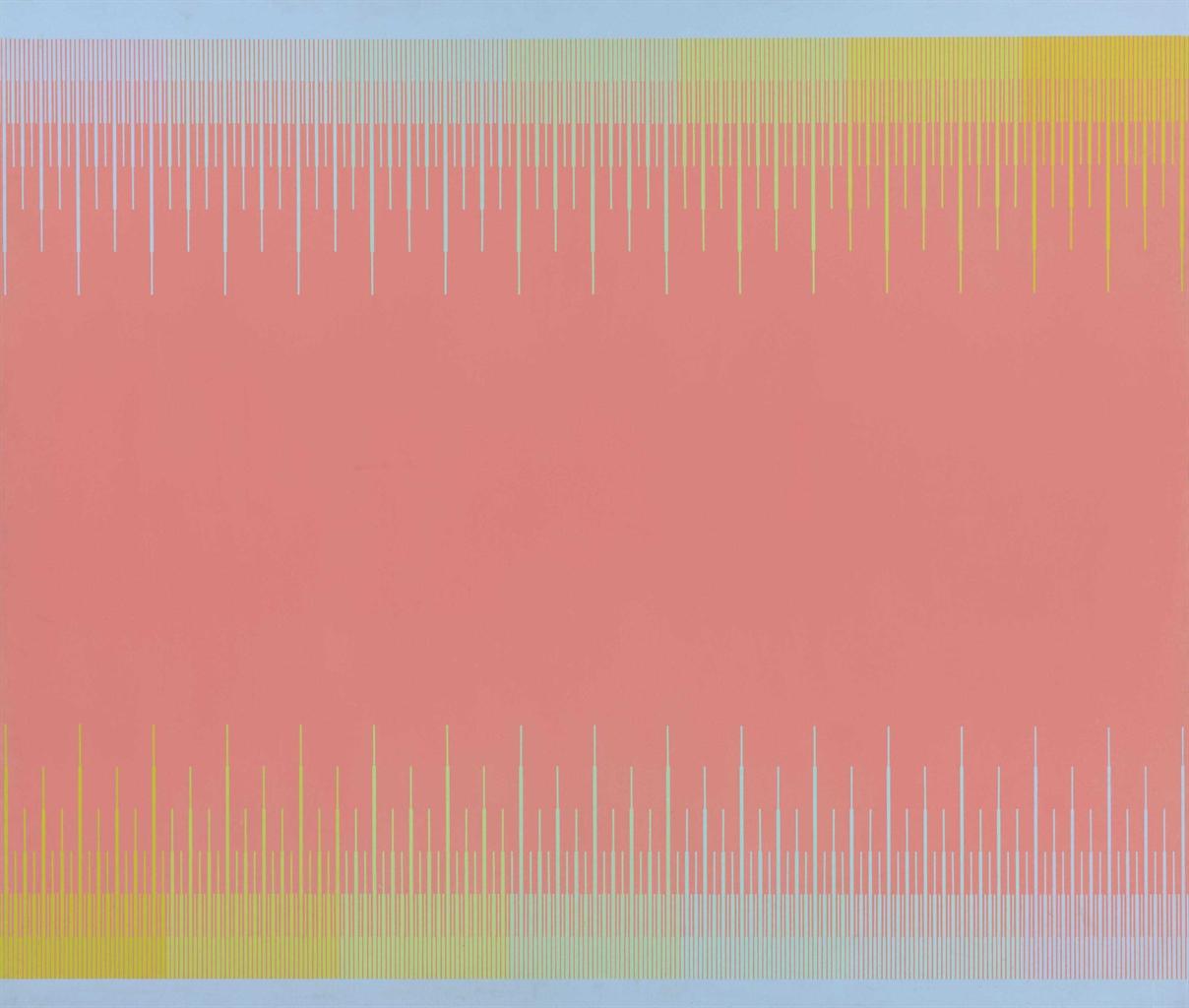 Richard Anuszkiewicz-Soft Flamingo-1974