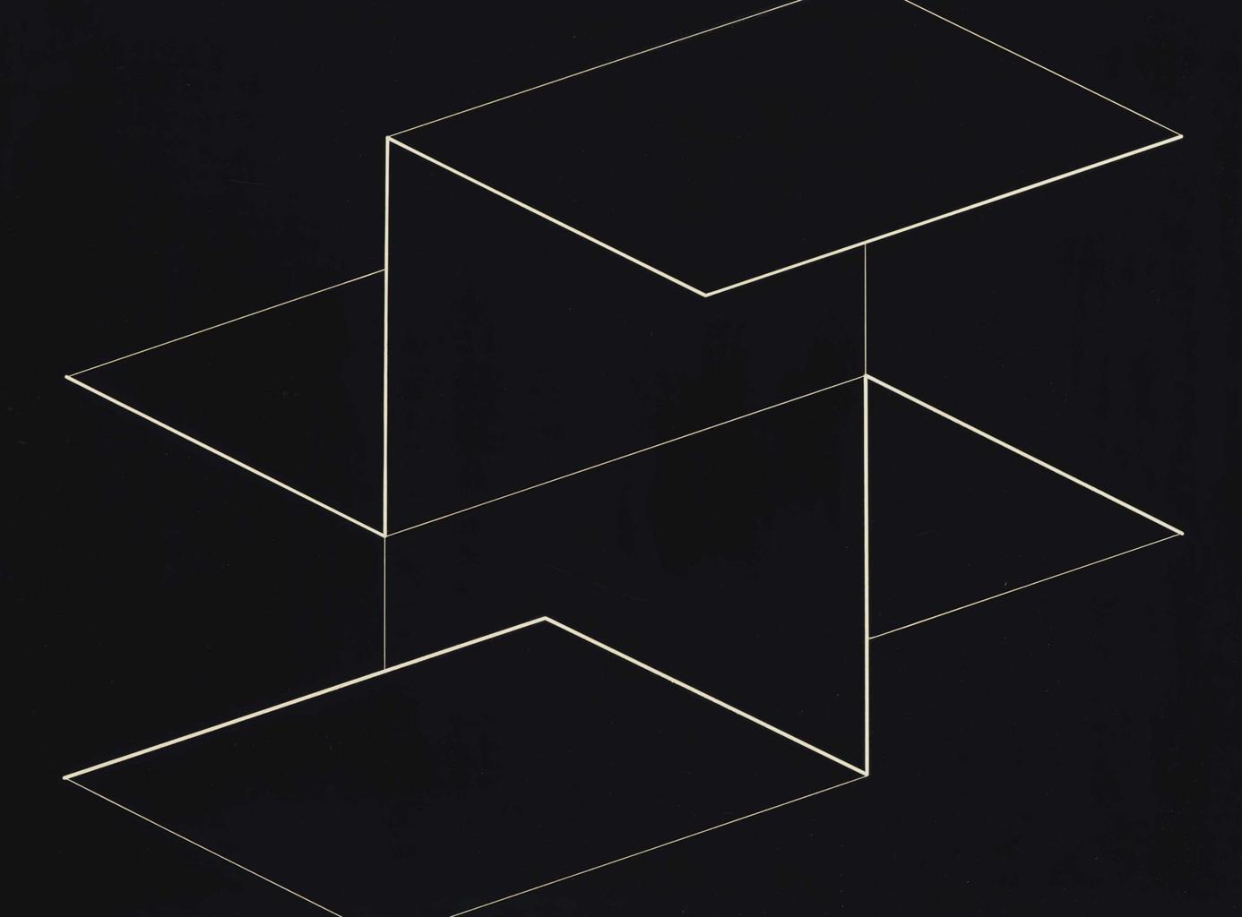 Josef Albers-Structural Constellation: Q-5-1954