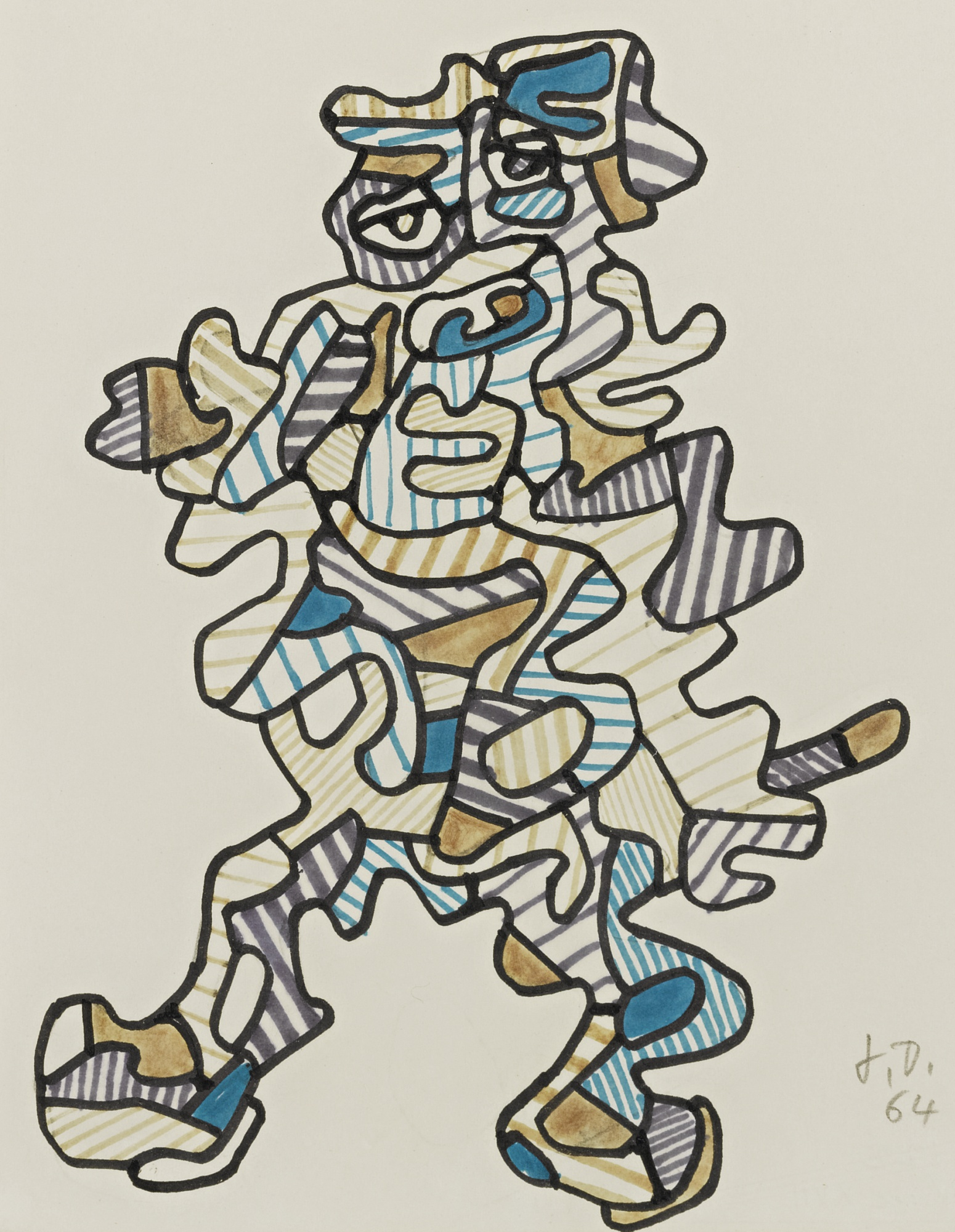 Jean Dubuffet-Personnage XVII-1964