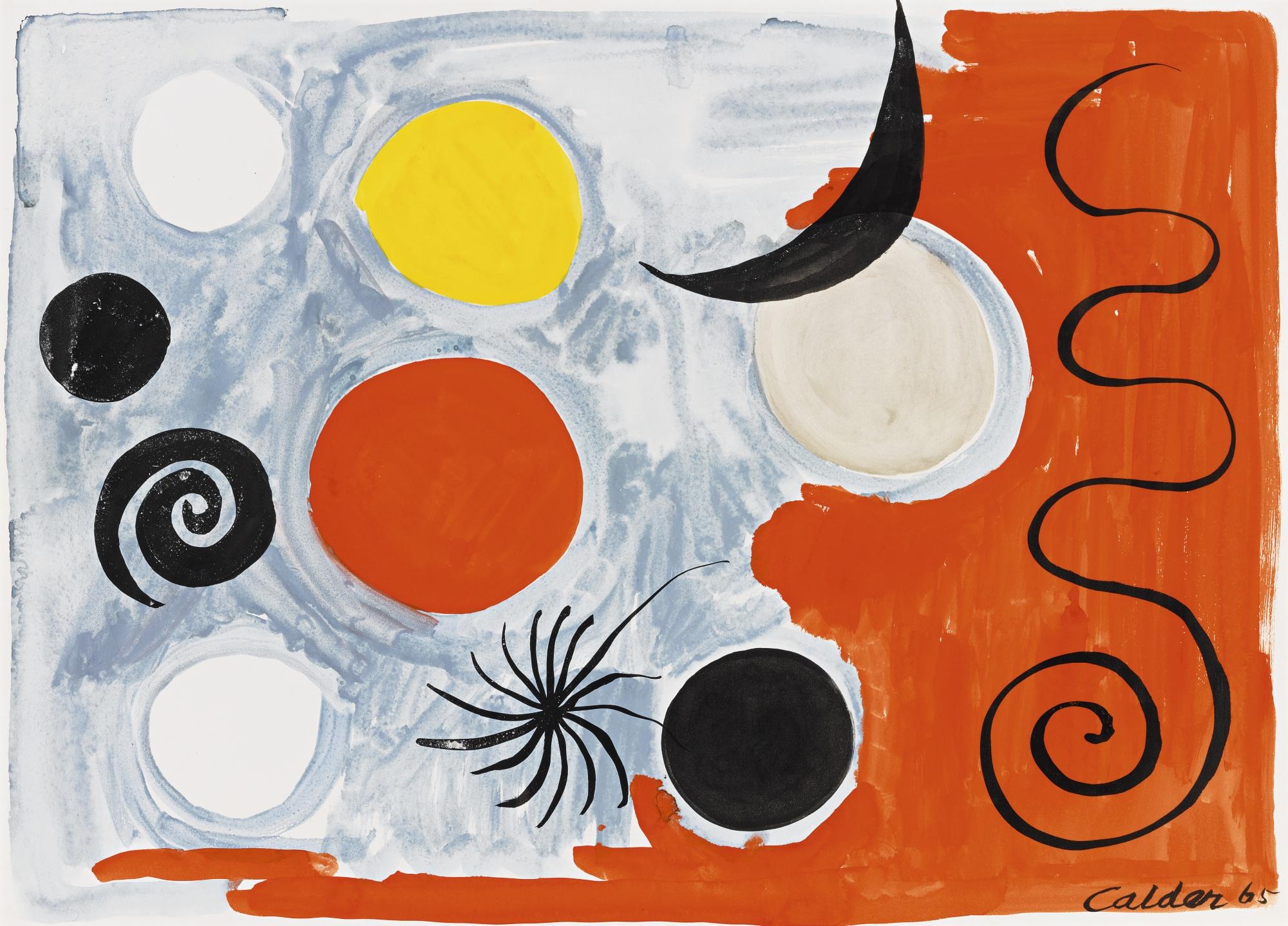 Alexander Calder-Black New Moon-1965