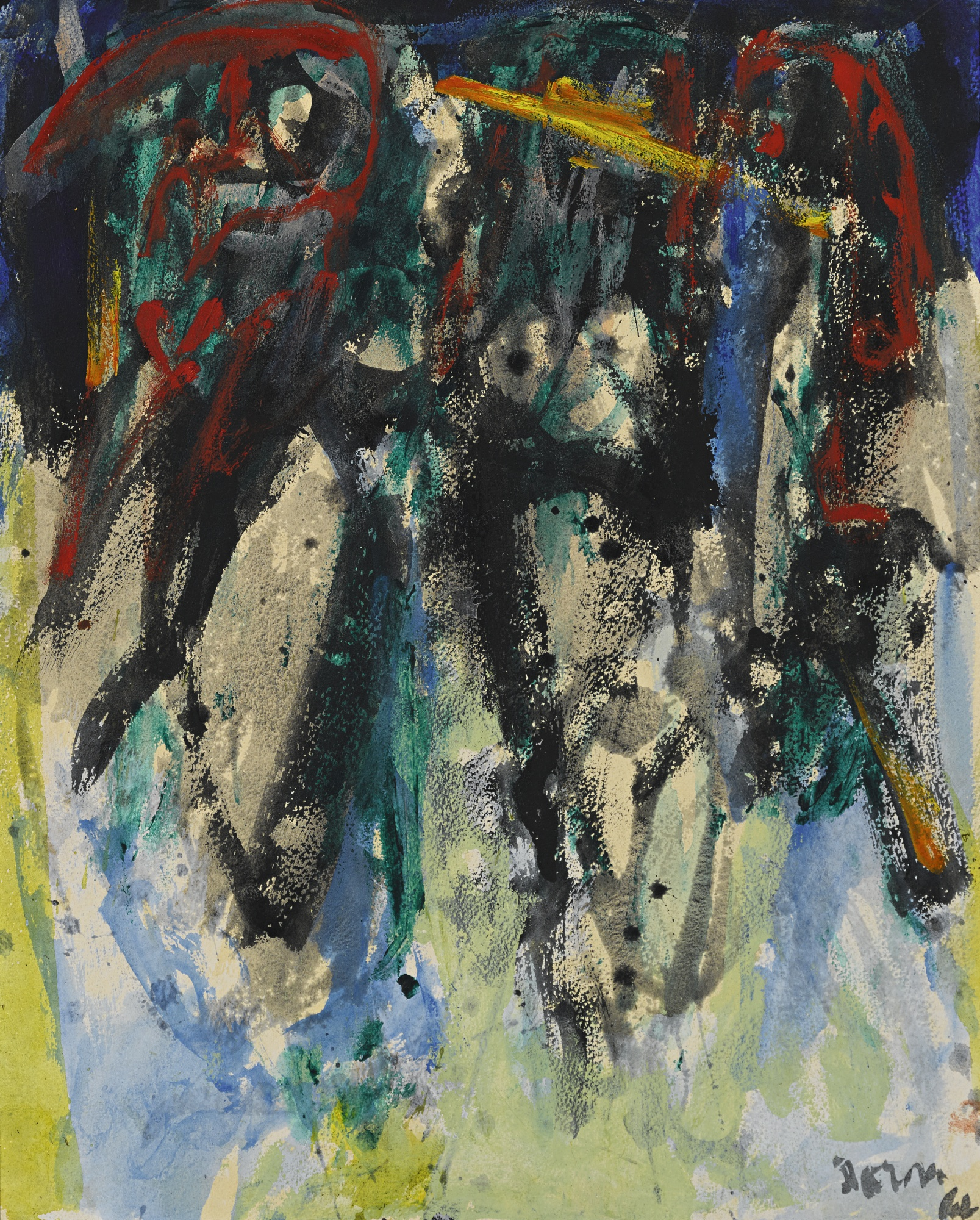 Asger Jorn-Post-Transitional A Mentality-1966