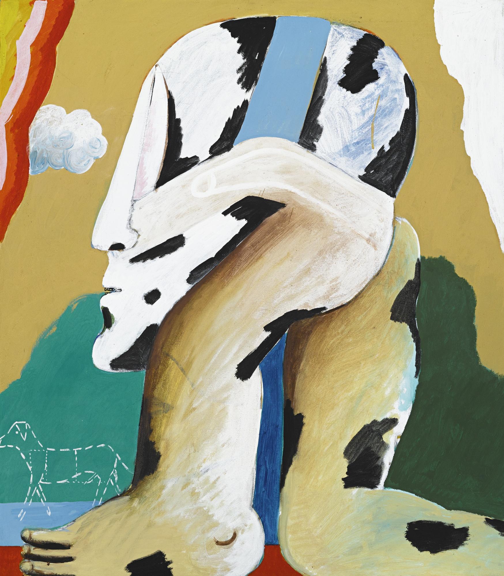 Horst Antes-Figur BogenschÜTze (Portrait Of An Archer)-1968