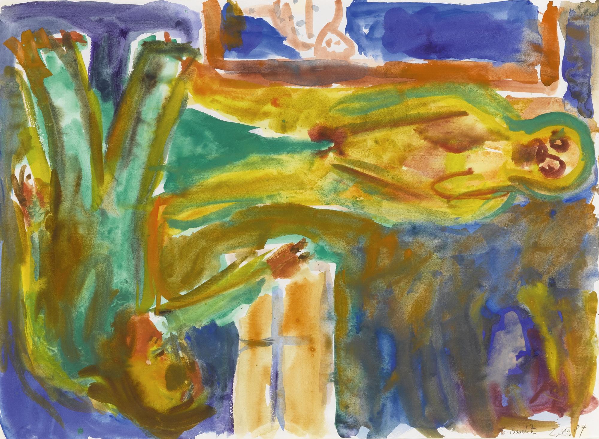 Georg Baselitz-Untitled (Liebespaar)-1984