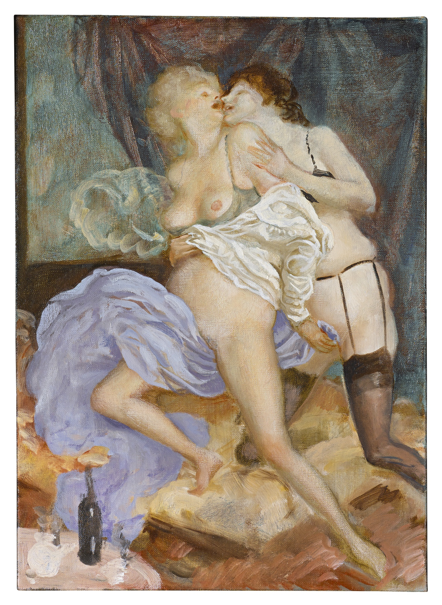 John Currin-Untitled (Study For The Conservatory)-2010