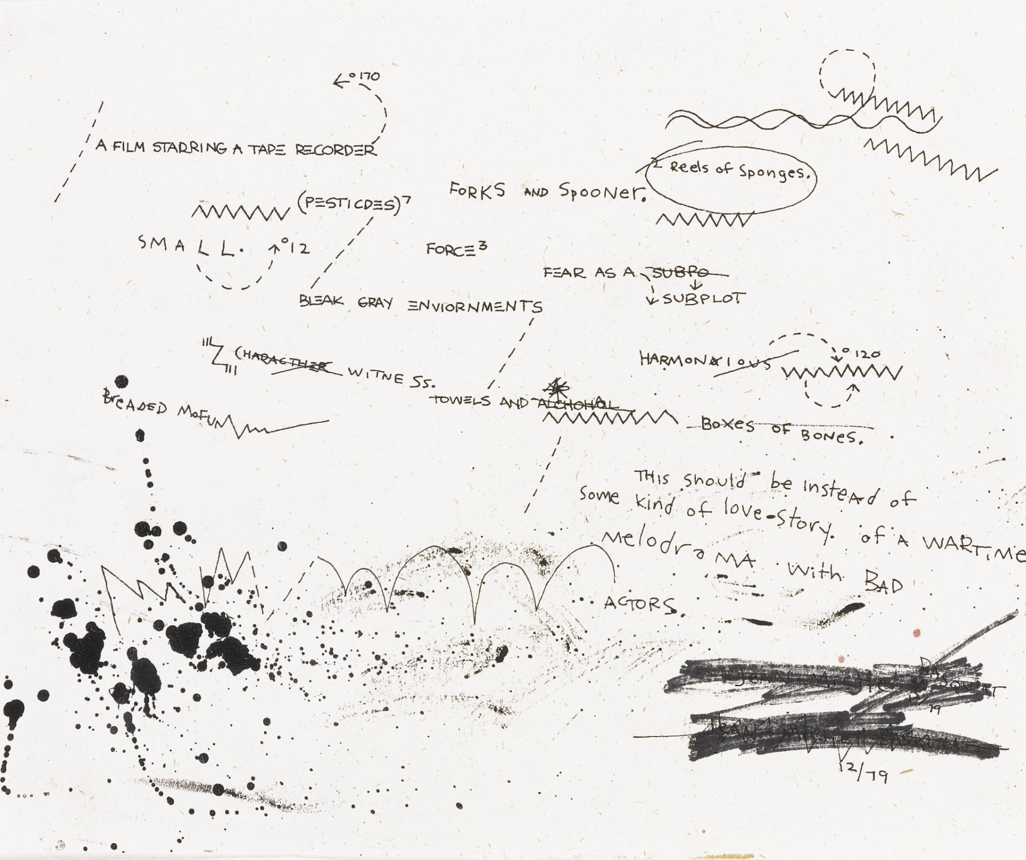 Jean-Michel Basquiat-Untitled (Self Portrait In Words)-1979