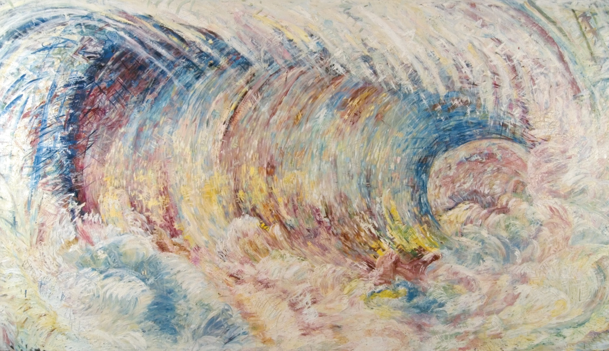 Pat Steir-Summer: The Wave After Courbet As Though Painted By Monet-1986