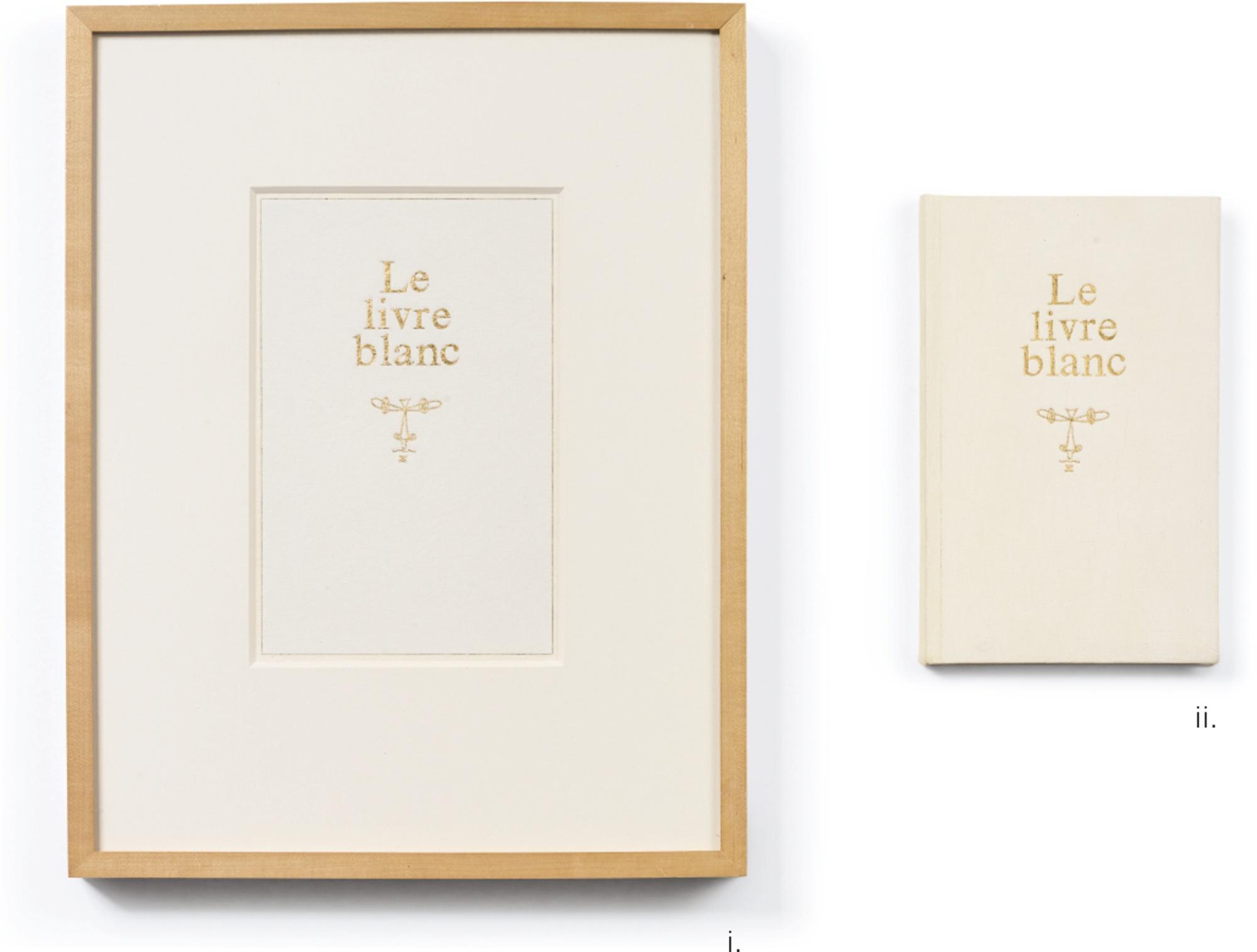 Steve Wolfe-Untitled (Study For Le Livre Blanc); Untitled (Le Livre Blanc) [Two Works]-1988