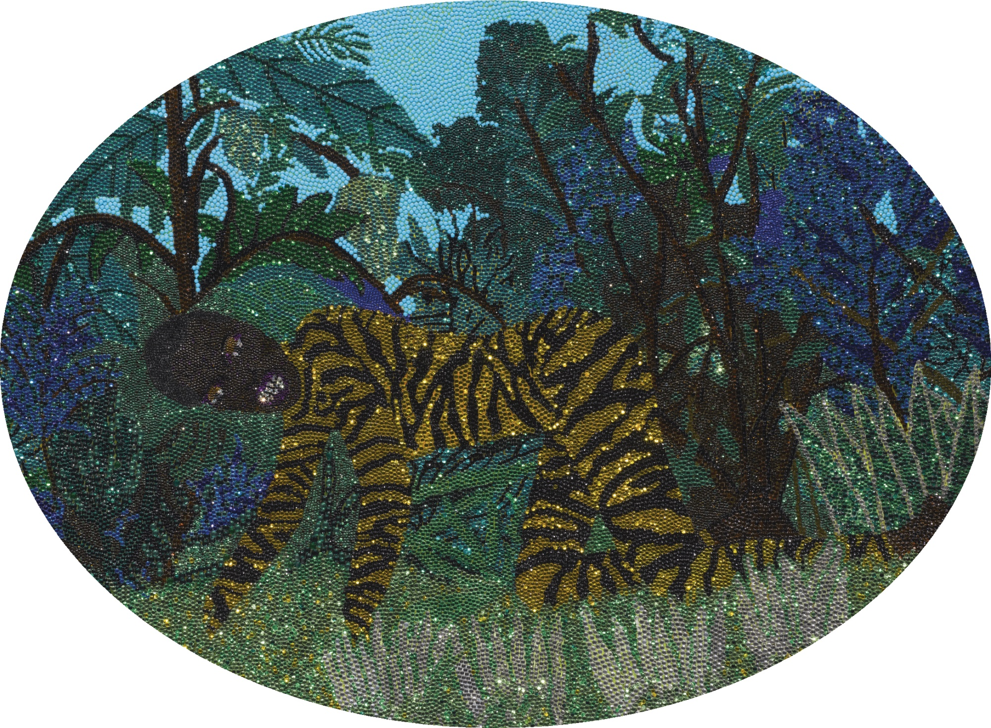 Mickalene Thomas-The Untamed In Rousseau-2003
