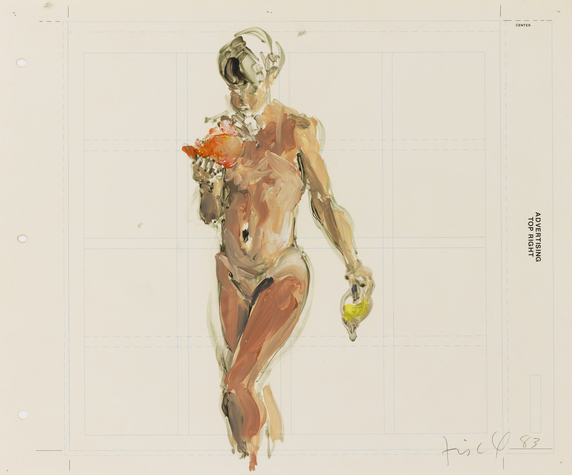 Eric Fischl-Study For Pizza Eater-1983