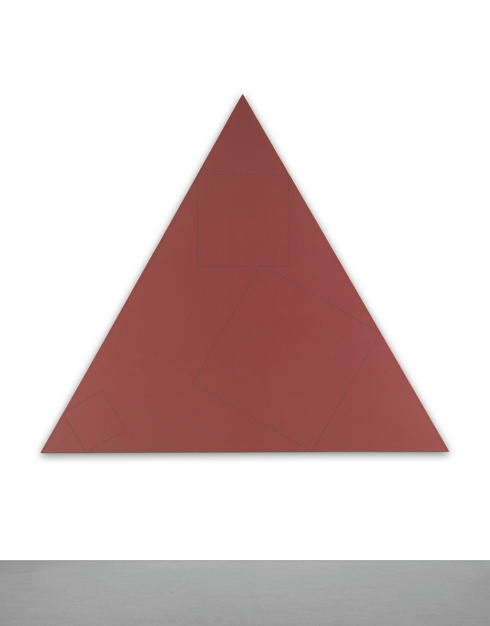Robert Mangold-Three Squares Within A Triangle-1976