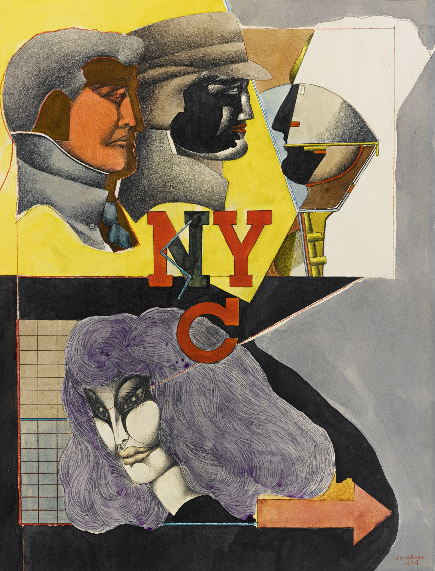 Richard Lindner-New York City No I-1964