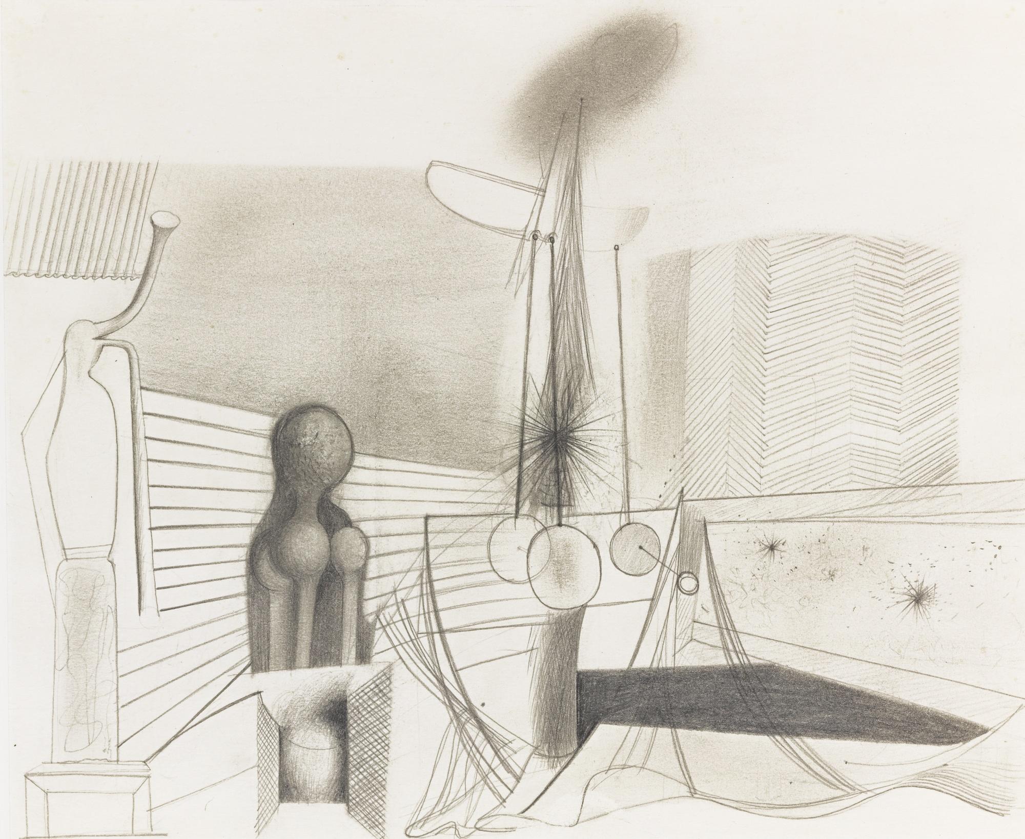 Willem de Kooning-Untitled (Study For World's Fair Mural Medicine)-1937