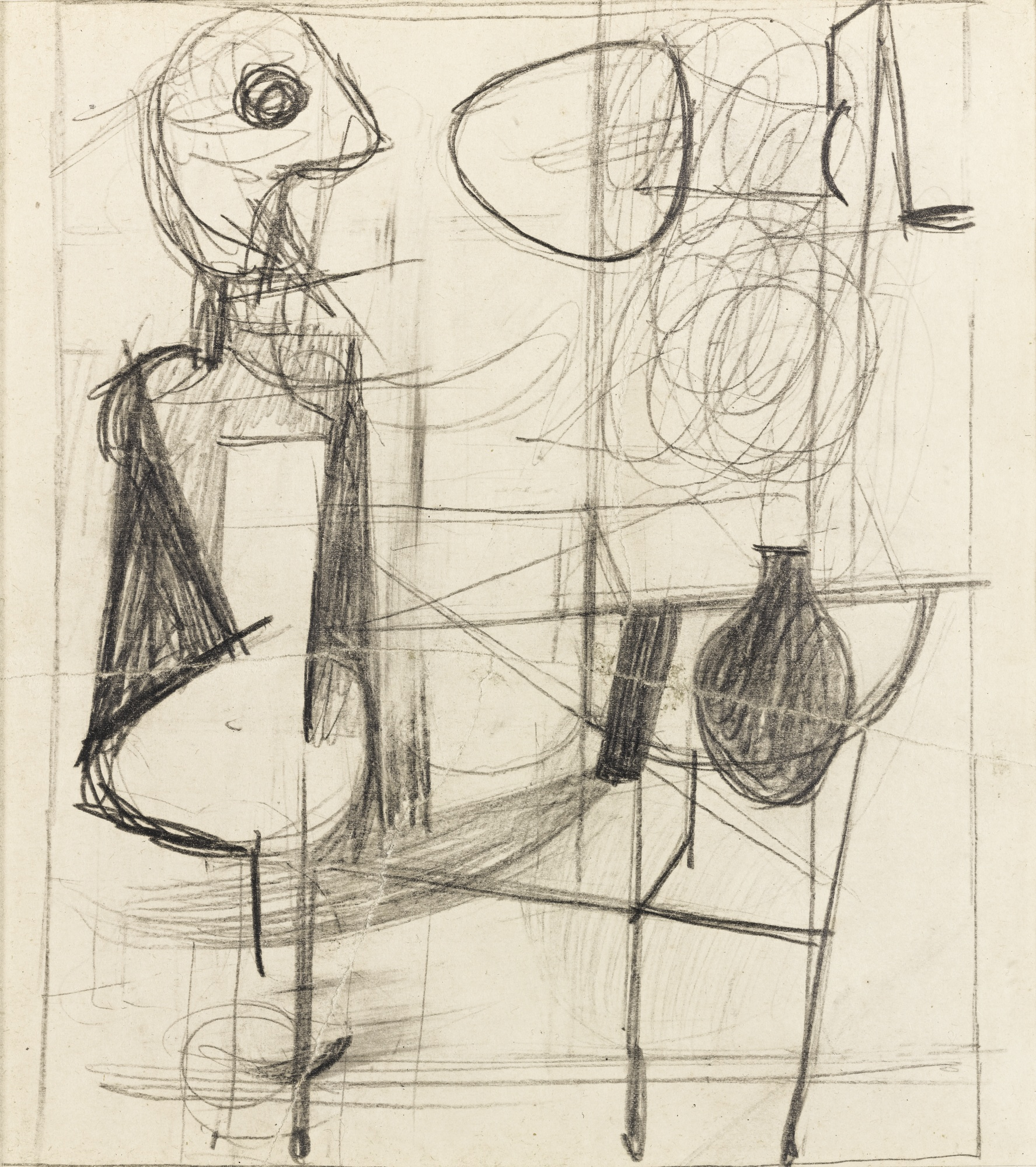 Willem de Kooning-Untitled (Abstract Composition)-1939