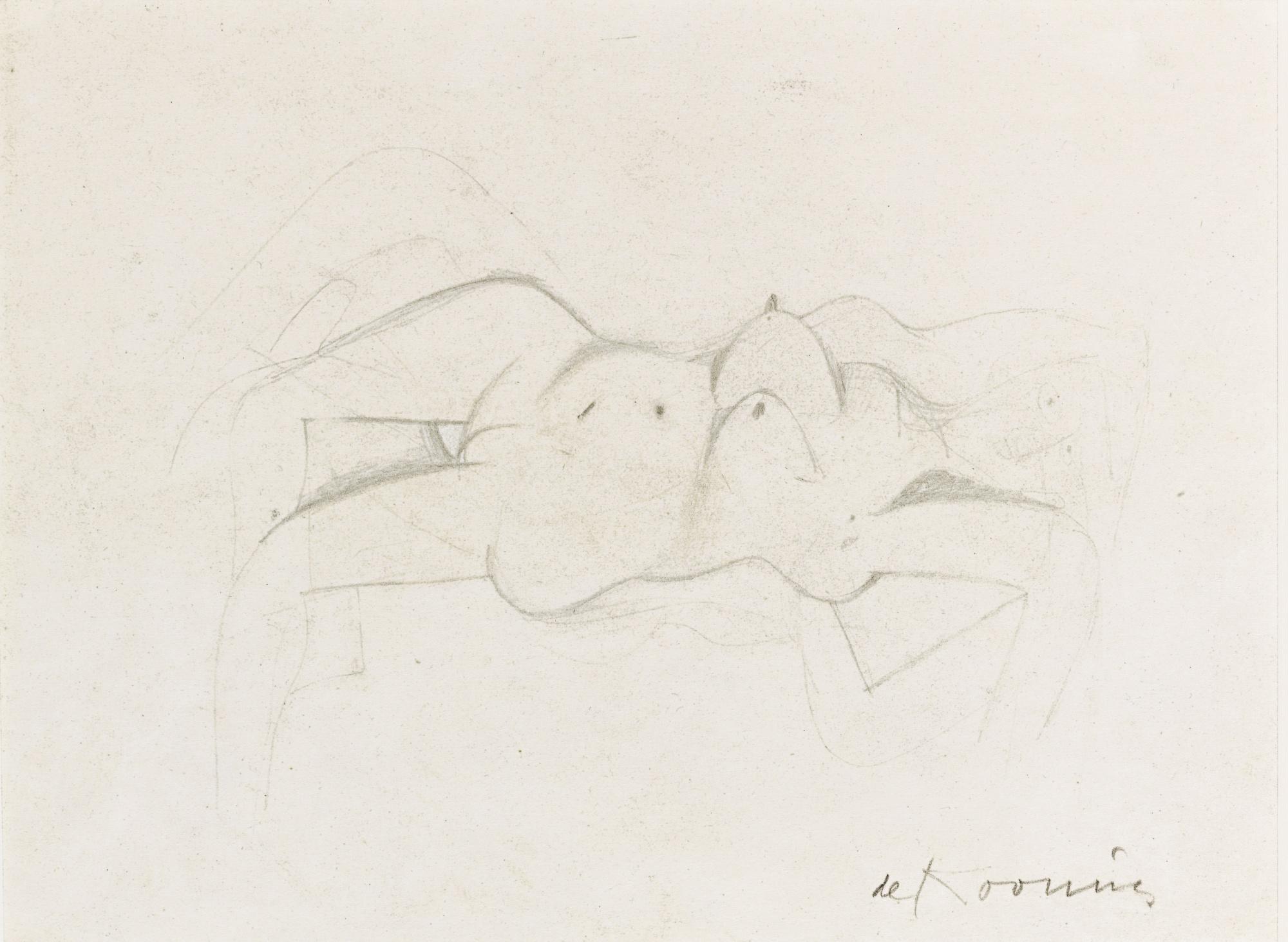 Willem de Kooning-Reclining Nude-1947